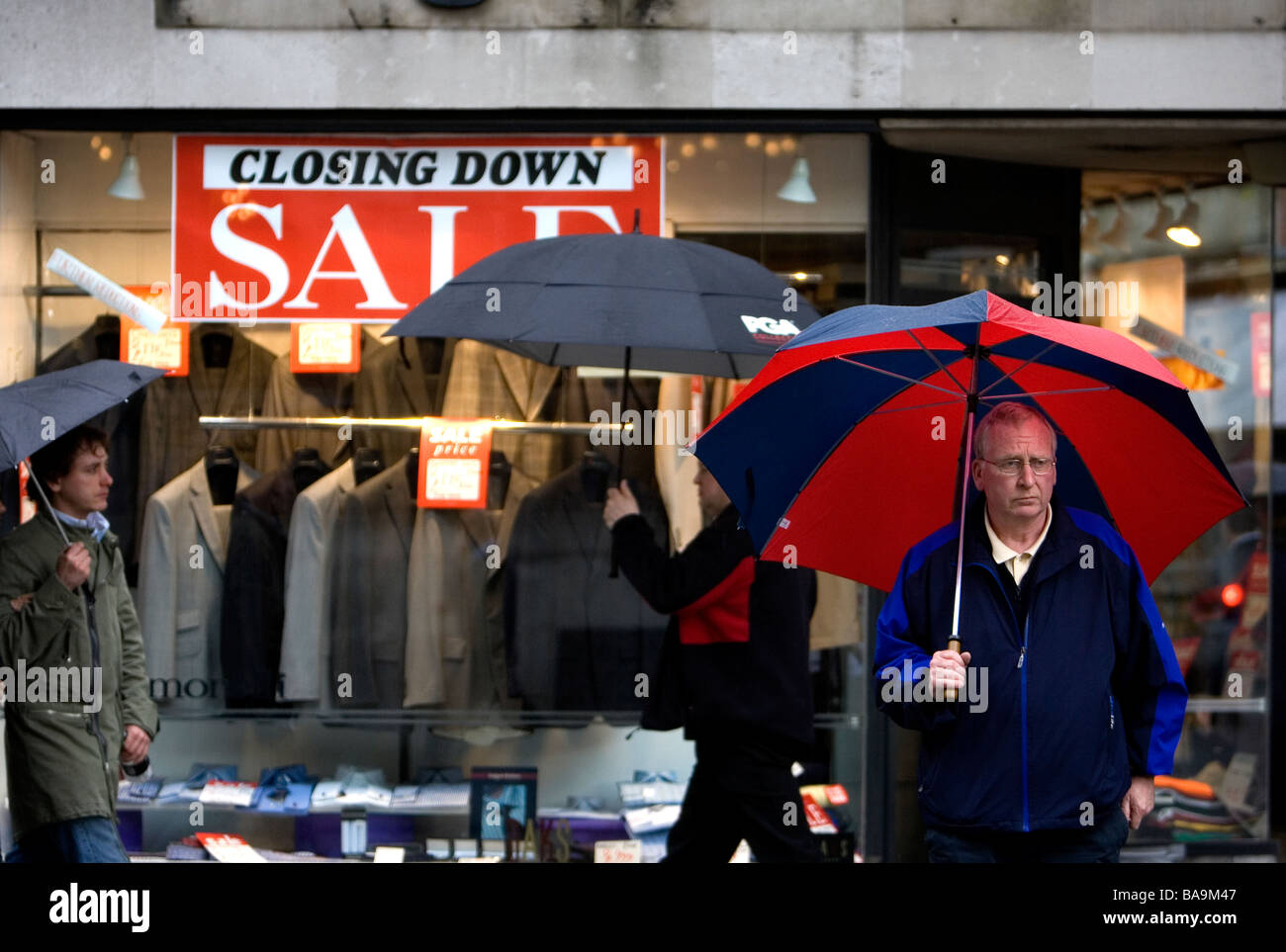 Closing down sale in London UK - Stock Image