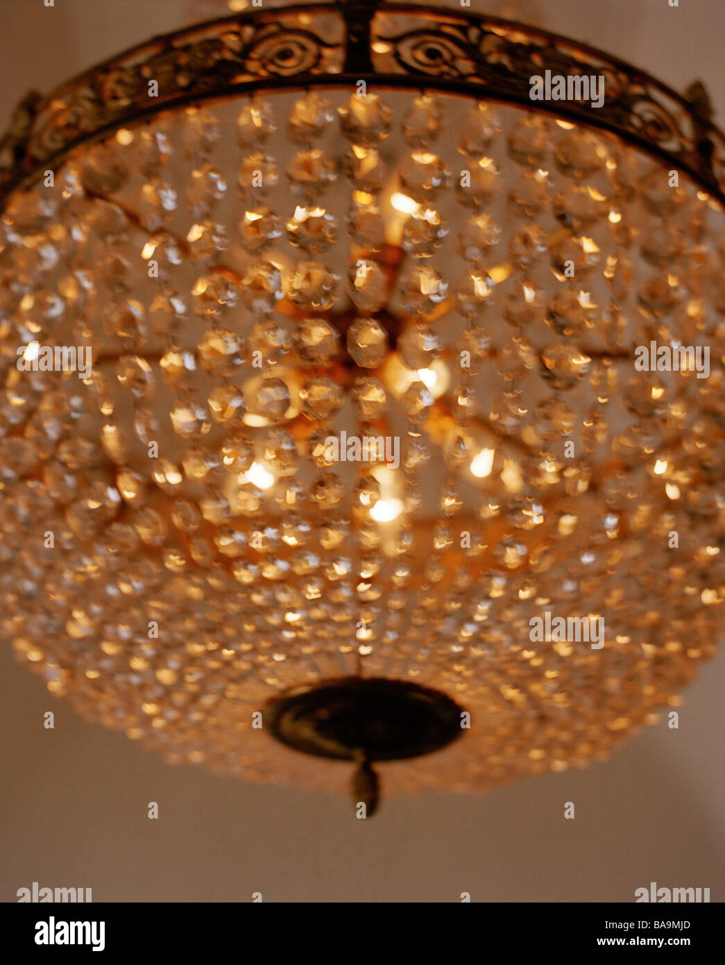 A cut glass chandelier close up stock photo 23570693 alamy a cut glass chandelier close up mozeypictures Images