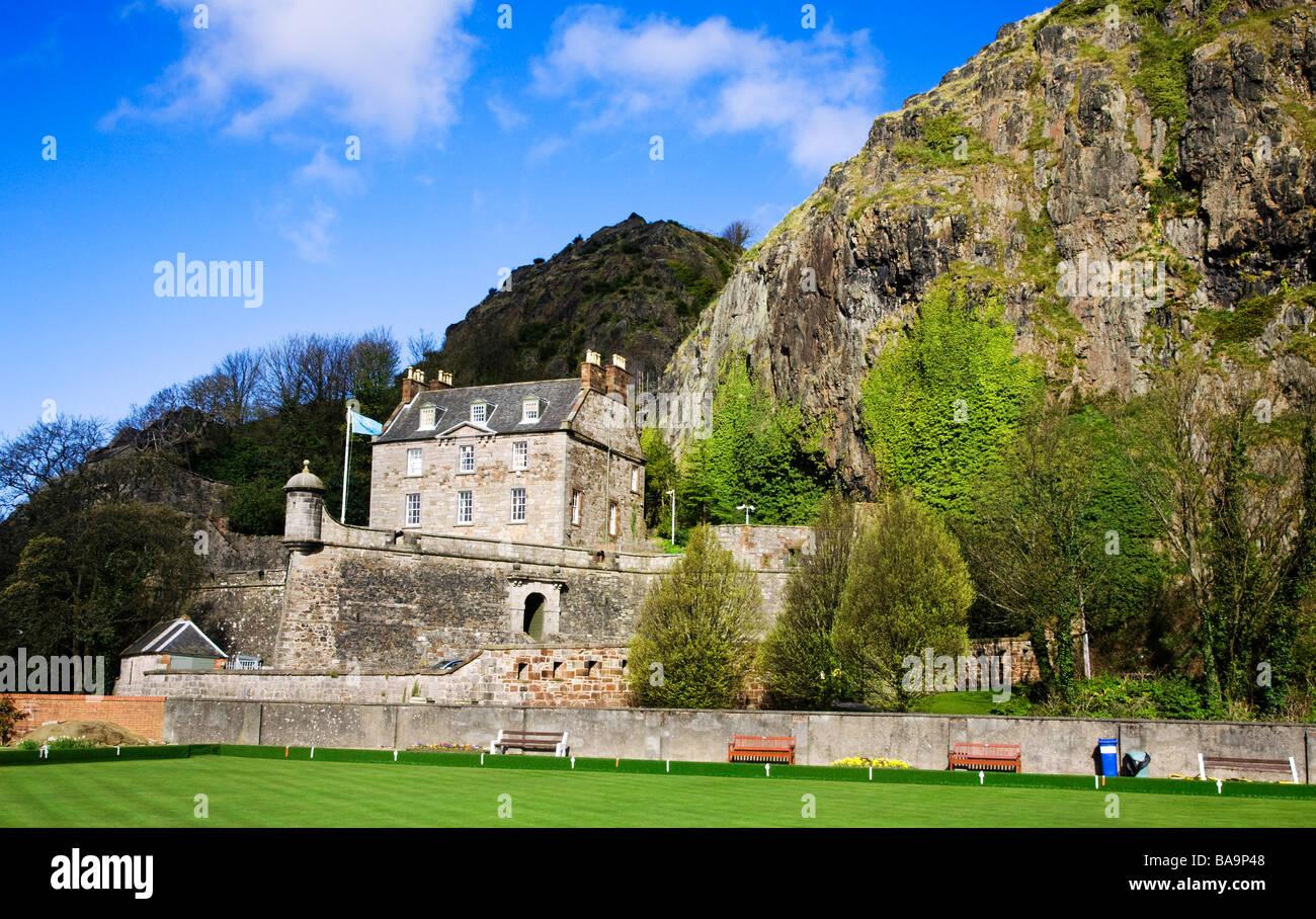Dumbarton Castle and Dumbarton rock, West Dumbartonshire, Scotland. - Stock Image