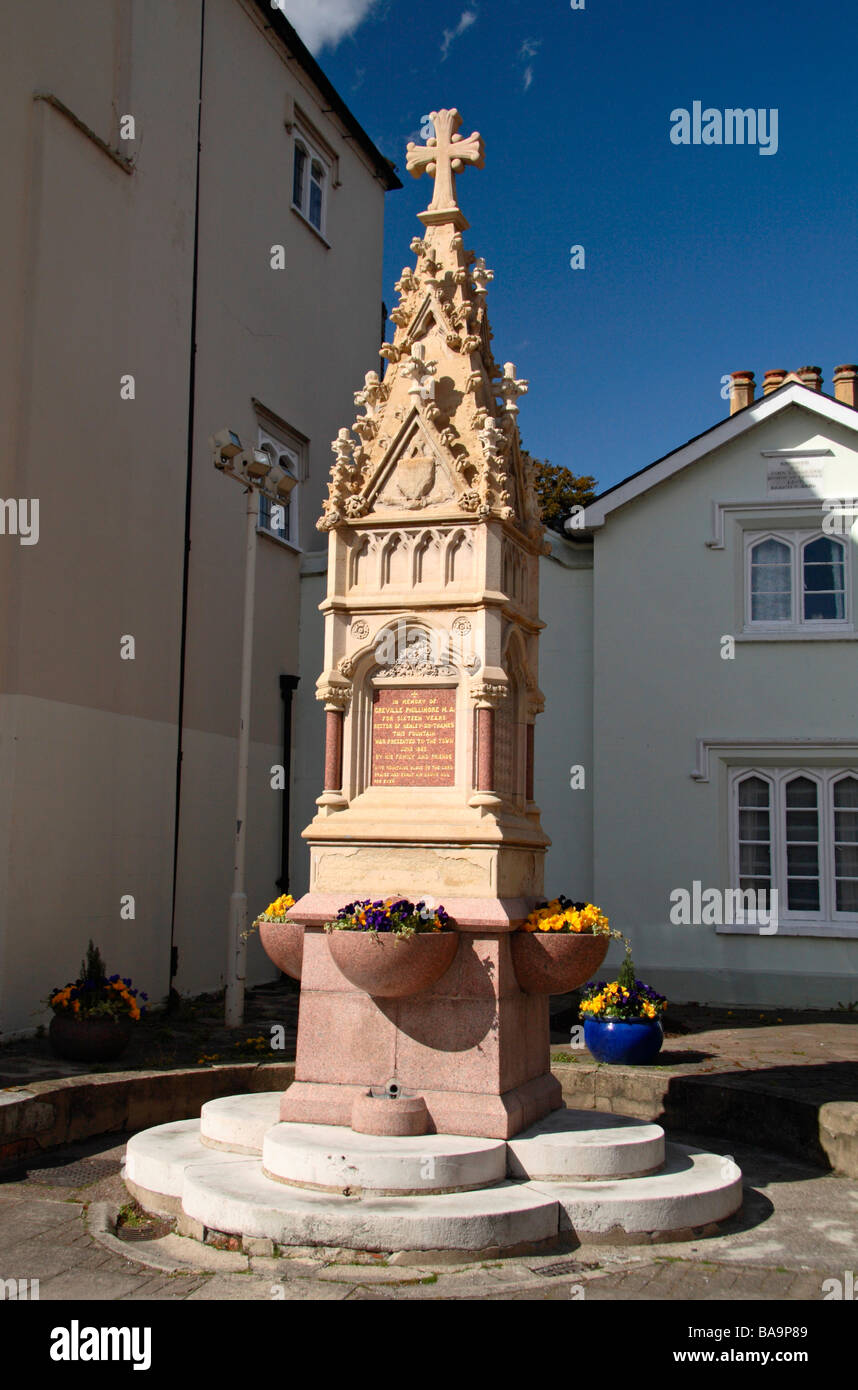 A memorial water fountain to Greville Phillimore, rector of Henley on Thames in 1867. - Stock Image