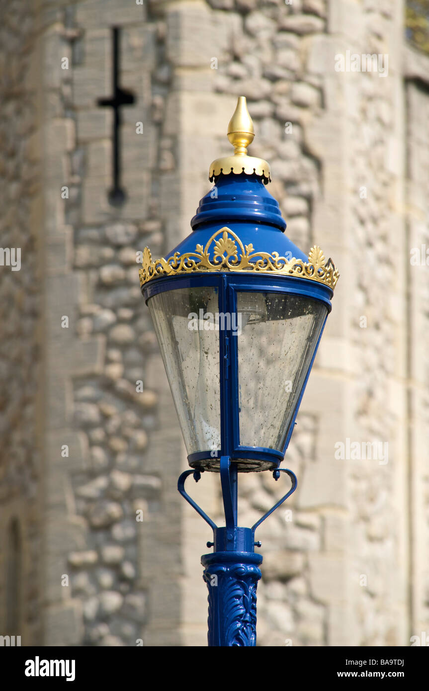 lamposts close to the Tower of London, London, England - Stock Image