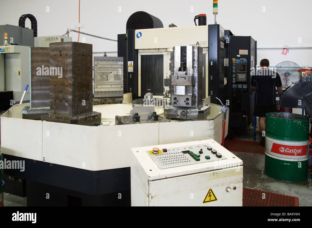 horizontal machining centre - Stock Image
