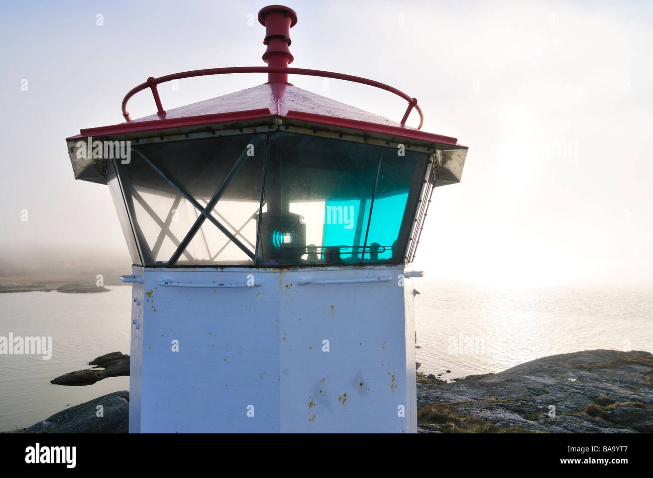 A lighthouse by the sea - Stock Image
