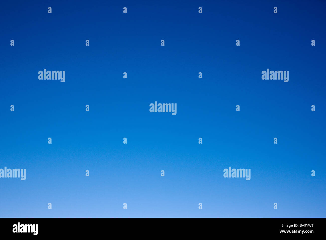 Crystal clear blue Colorado sky - Stock Image