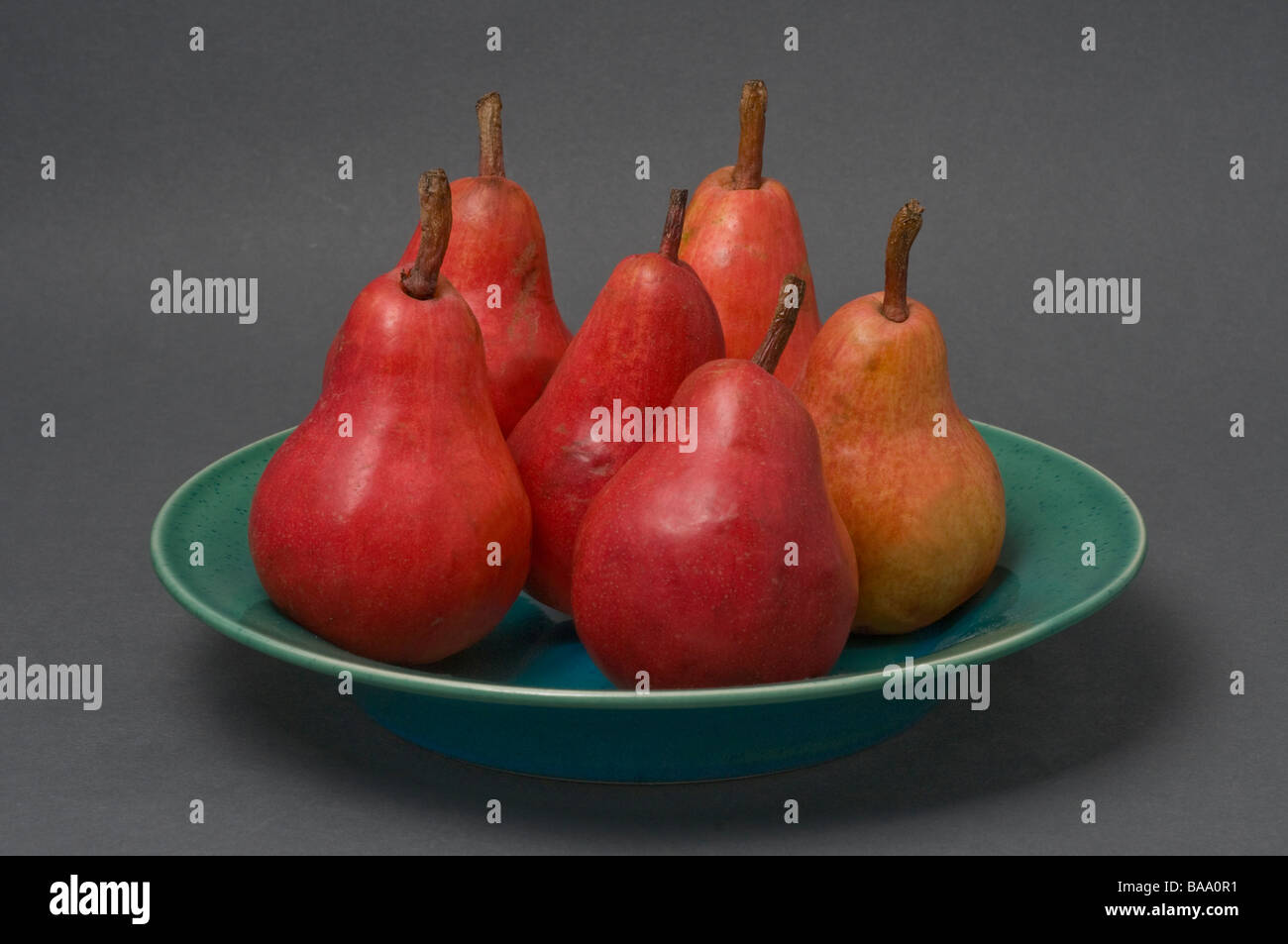 Ripe red pears variety 'Sensation' - Stock Image