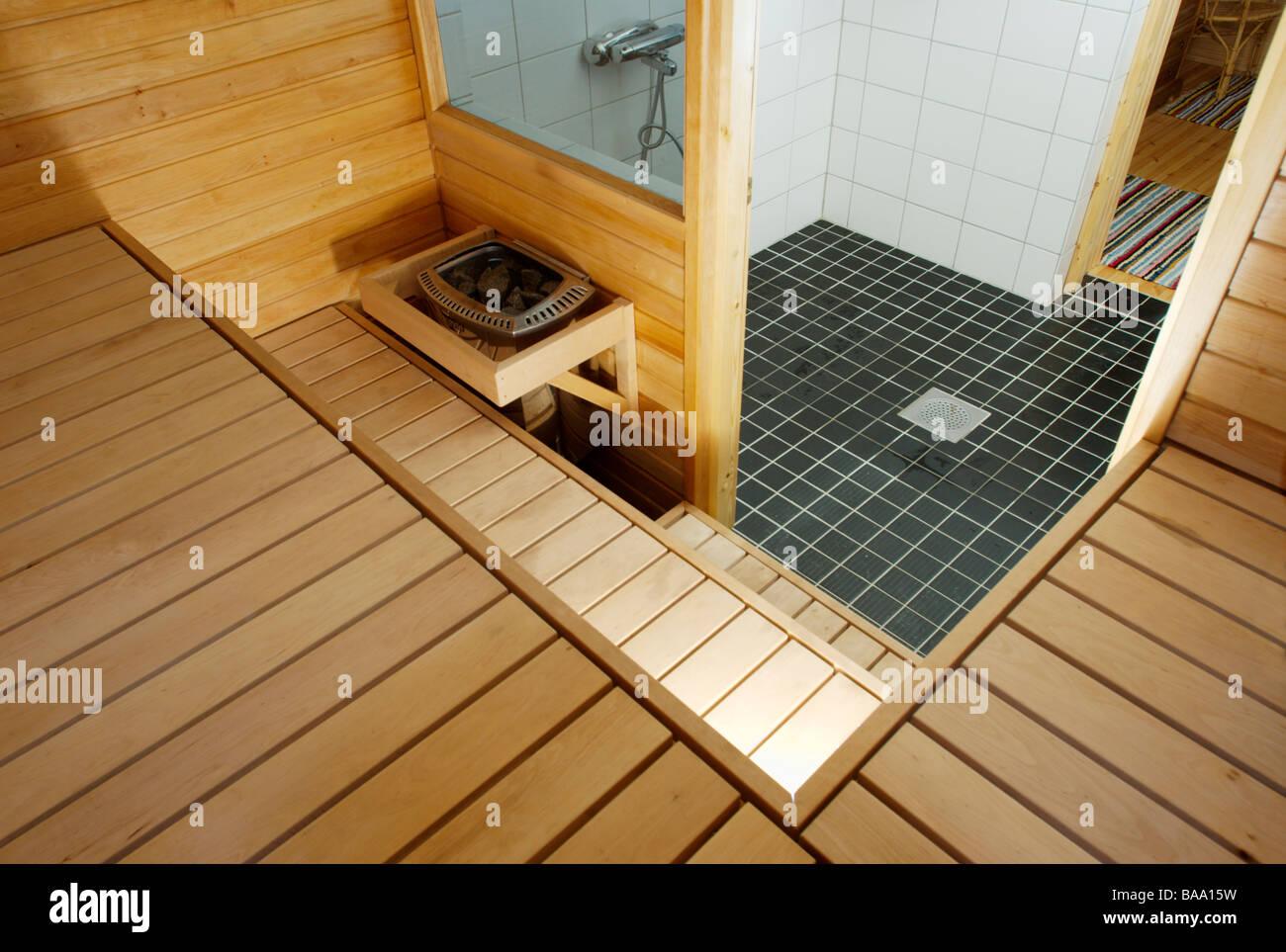 Sauna interior - Stock Image