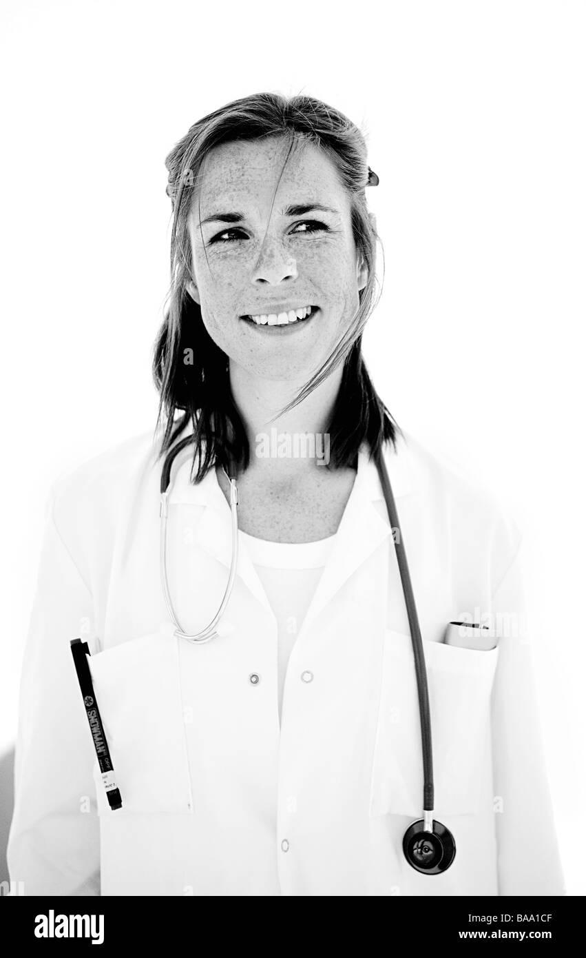 Portrait  of a doctor, Sweden. - Stock Image