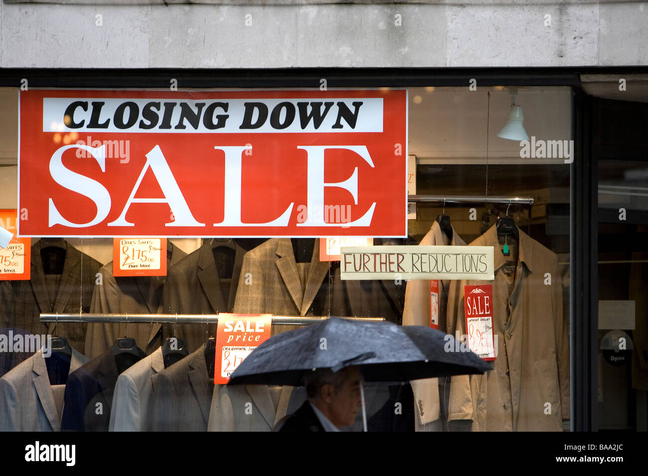 Closing Down Sale in London - Stock Image