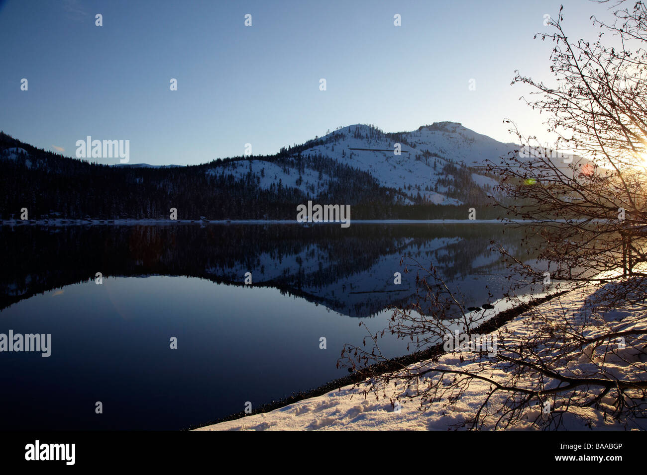 Donner Lake, Truckee, California - Stock Image