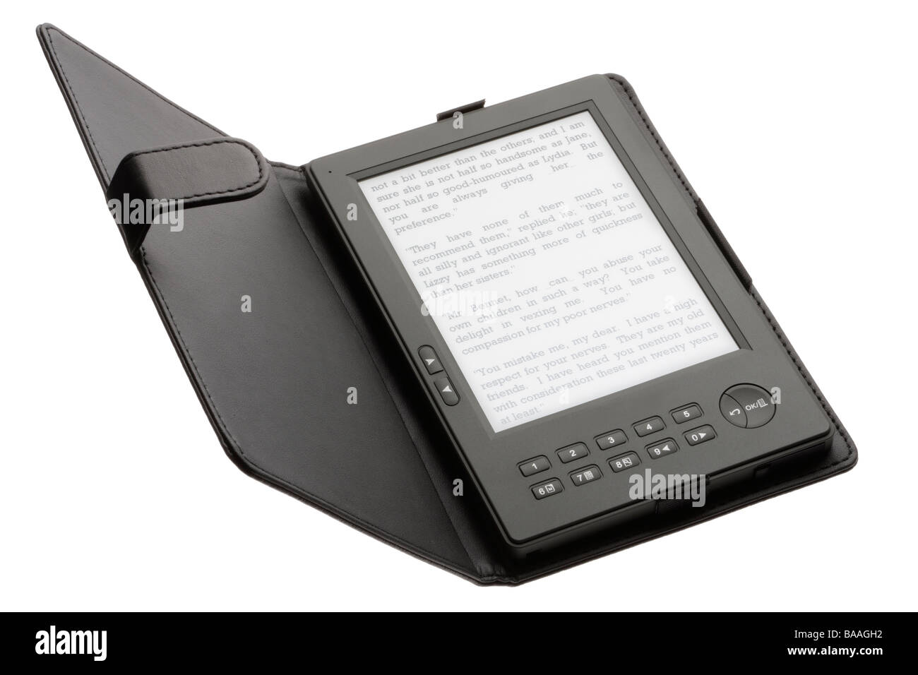 Electronic book or ebook reader - Stock Image