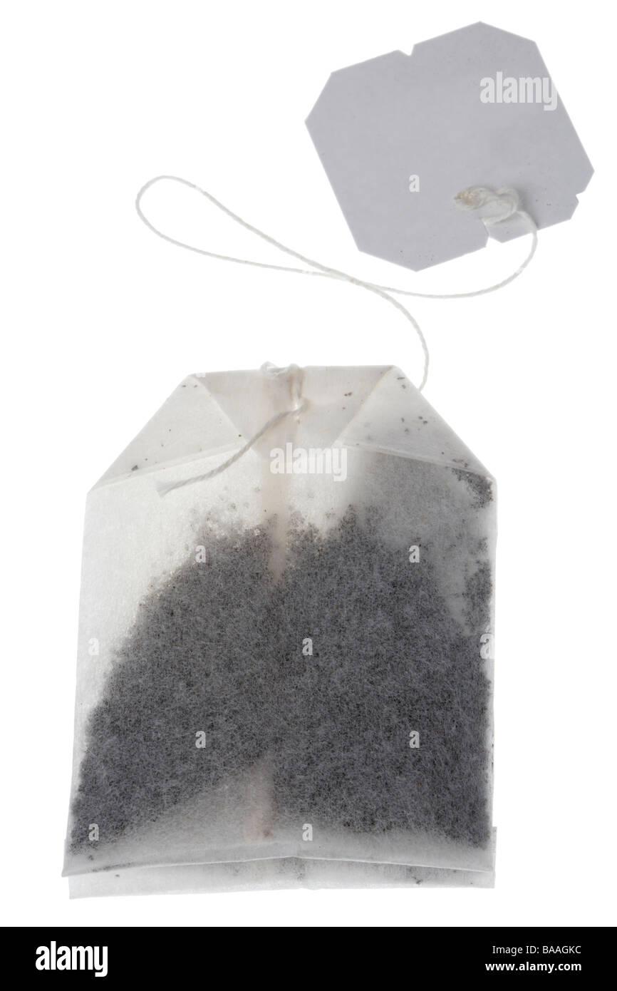 Tea bag and string tag - Stock Image