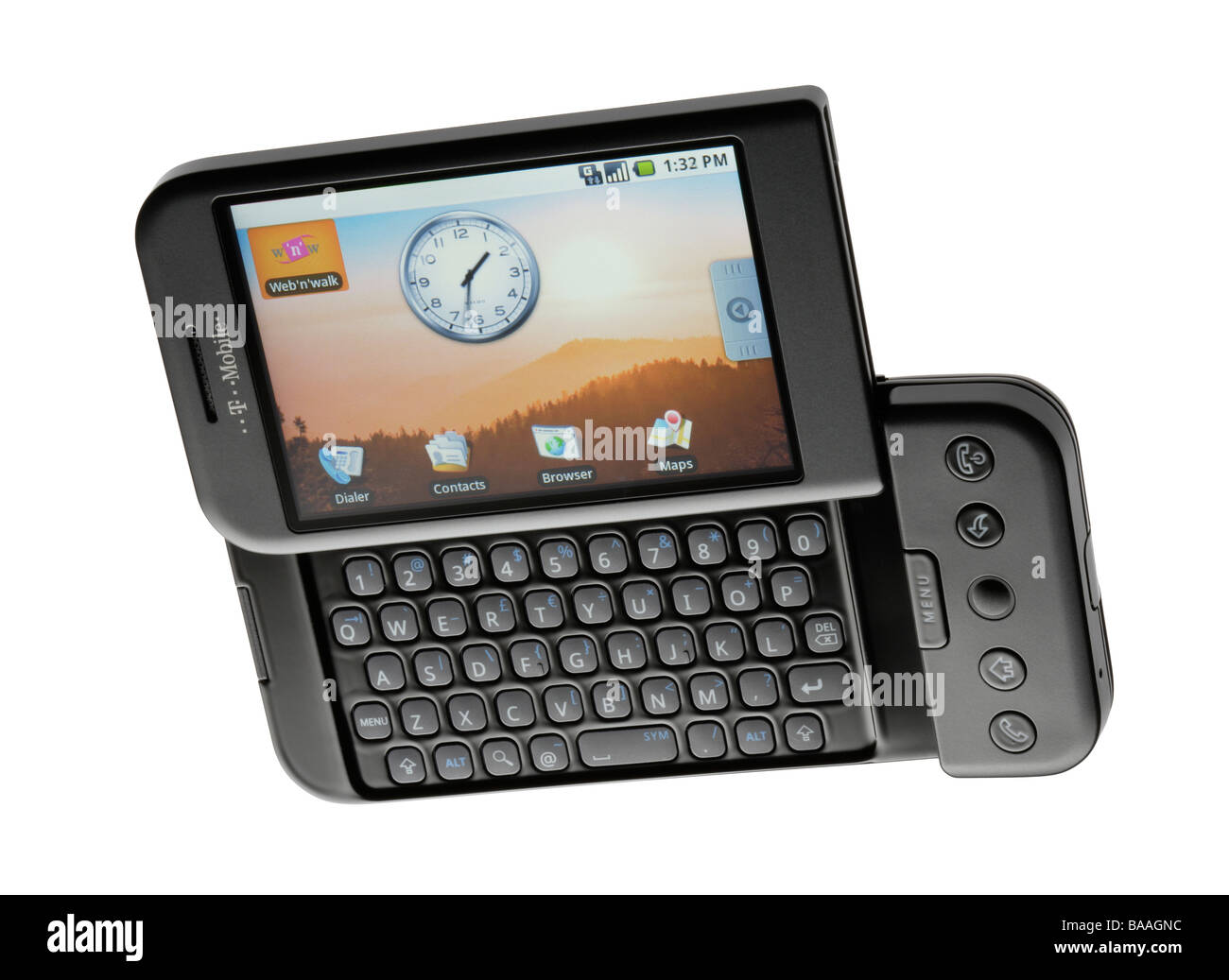 Google T Mobile G1 android phone - Stock Image