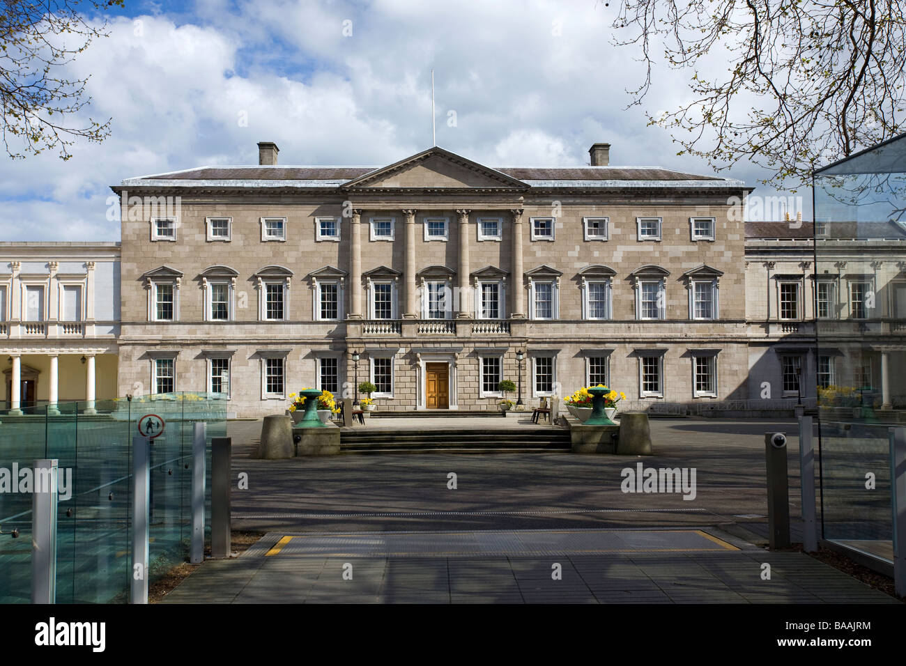 Leinster House, Dail Eireann, Kildare St Dublin which houses the Irish National Parliament Stock Photo