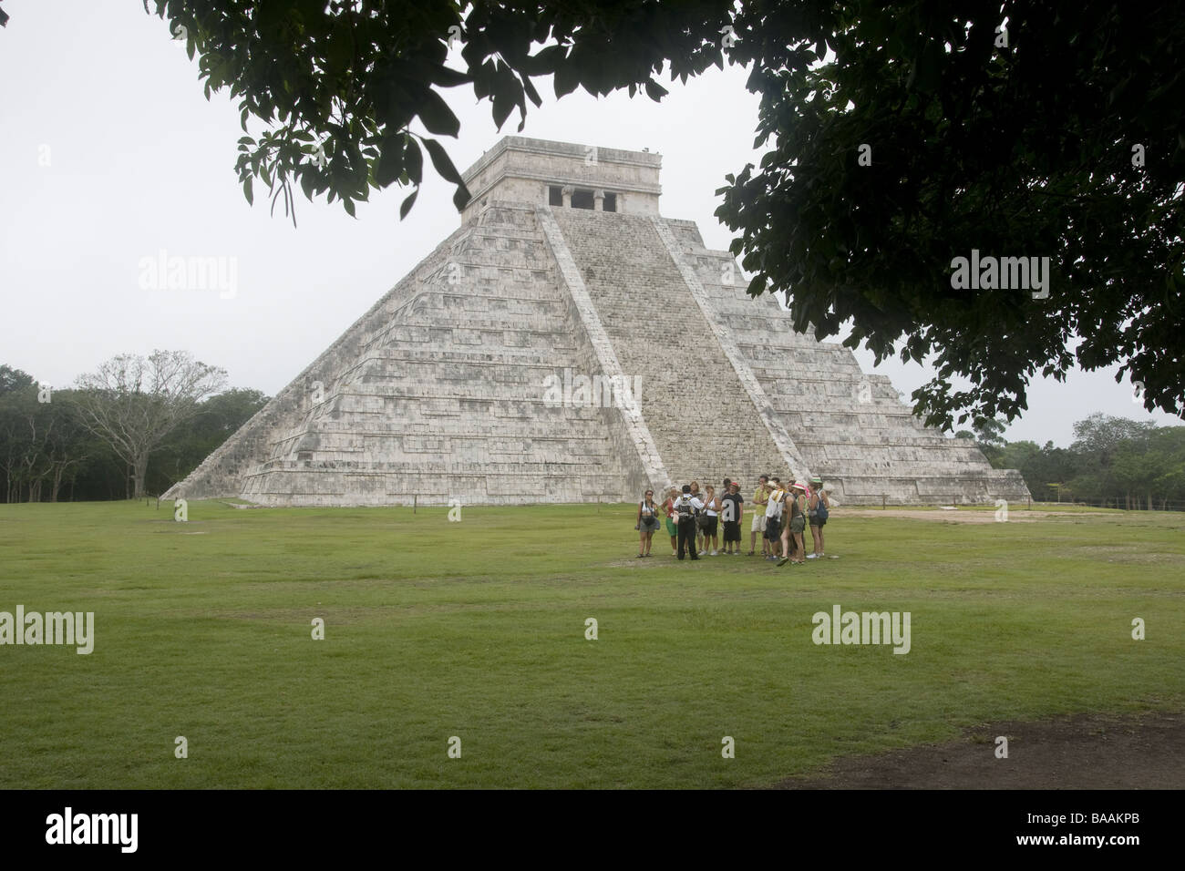Chichen Itza is a large pre-Columbian archaeological site built by the Maya civilization located in the northern - Stock Image