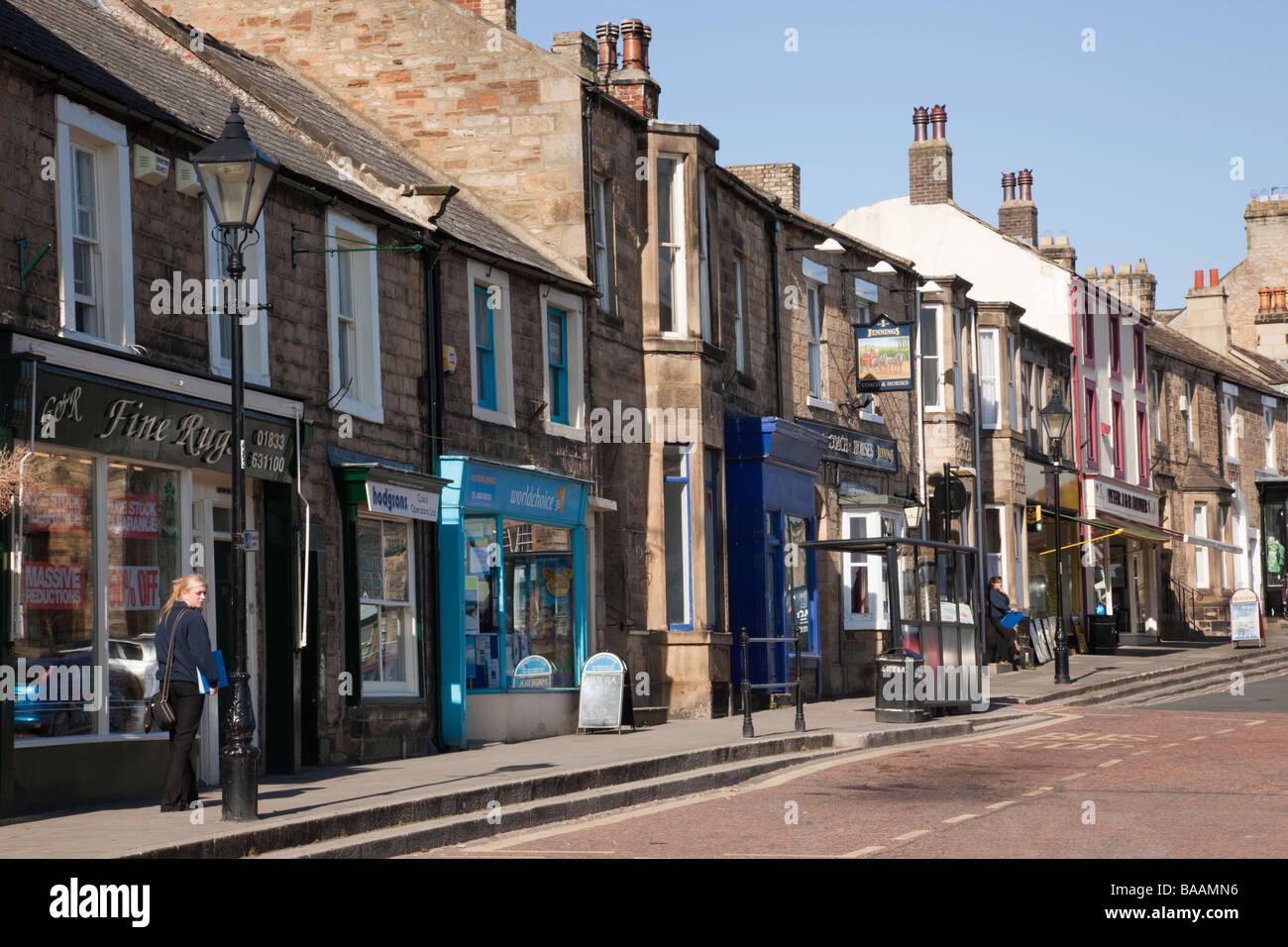 Barnard Castle Teesdale County Durham England Uk Terraced Houses And