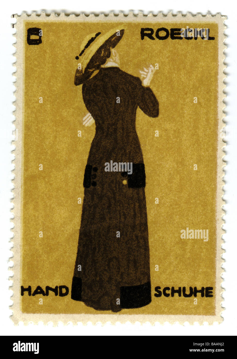 advertising, stamps, 'Roeckl Handschuhe', Germany, circa 1910,historic, historical, stamp, clipping, gloves, - Stock Image