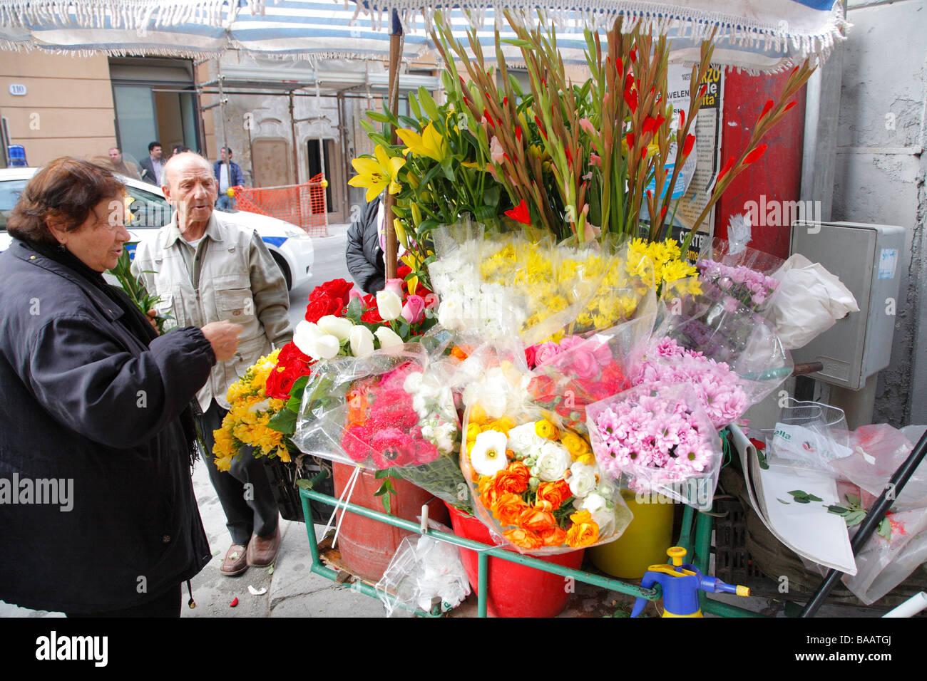 Market, Mercato della Vucciria, Palermo, Sicily, Italy - Stock Image