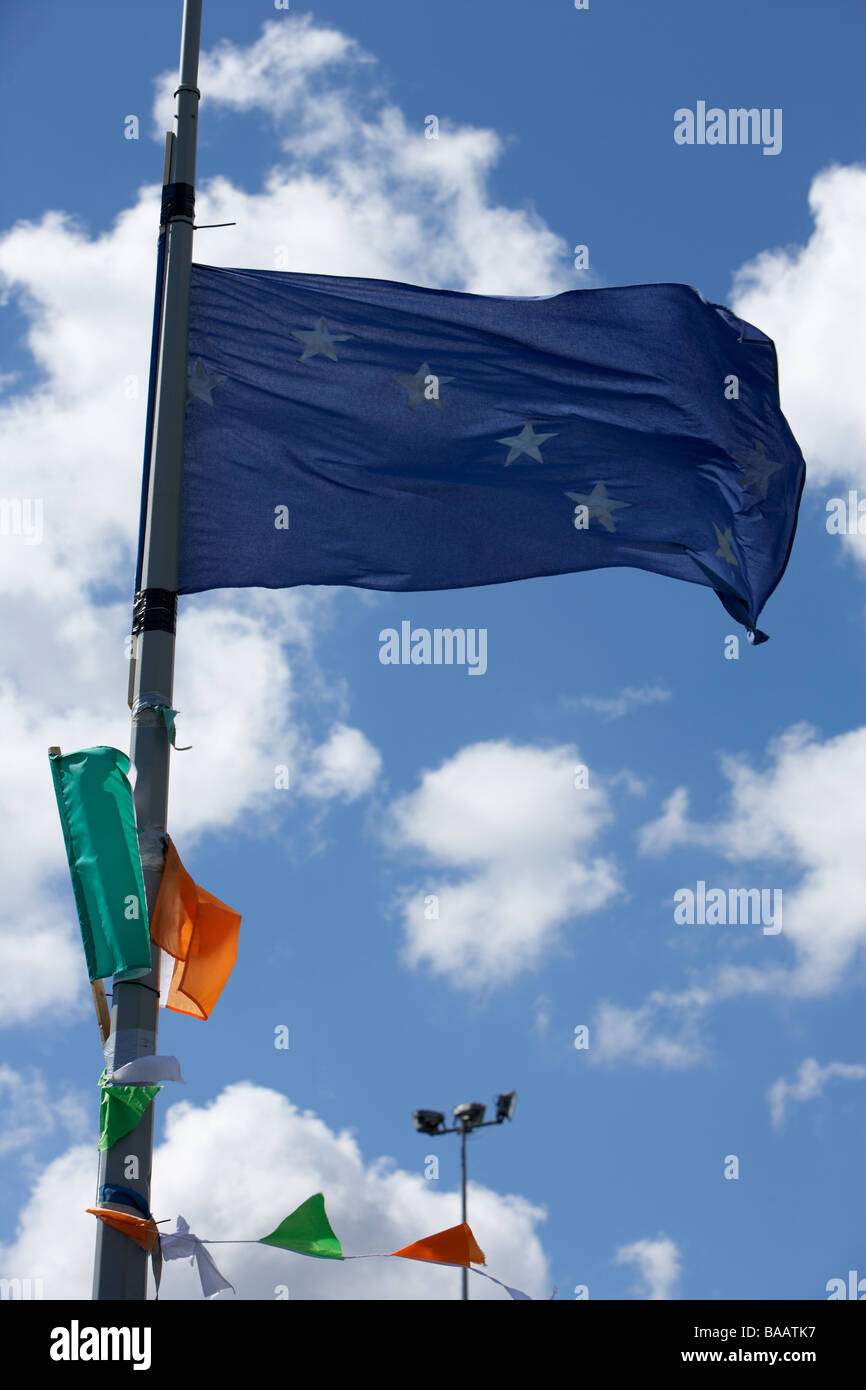 The starry plough flag flying originally used by the Irish Citizen Army but later by the Irish National Liberation - Stock Image
