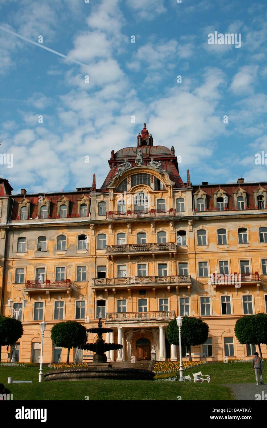 Old Building in Marianske Lazne - Stock Image