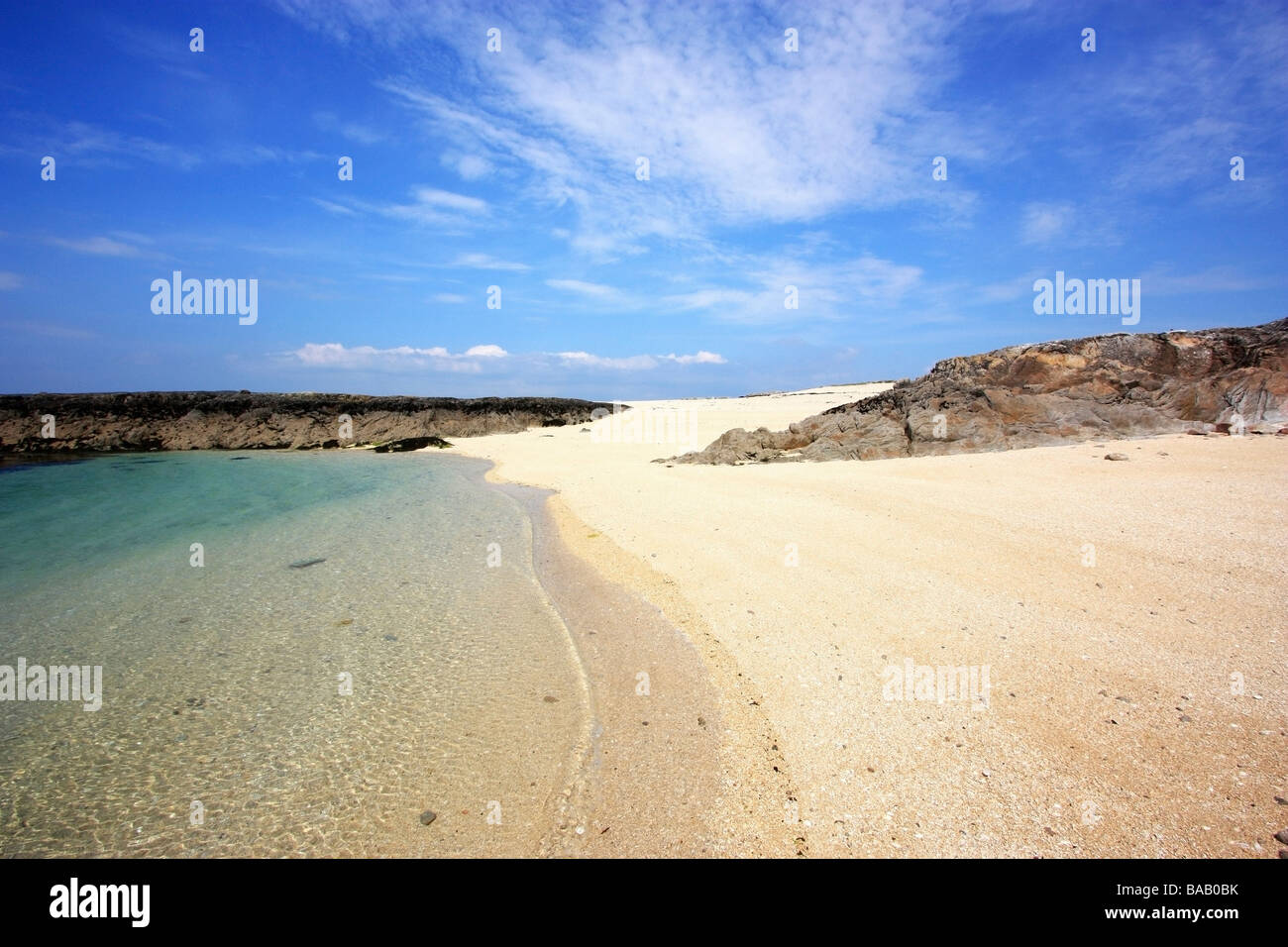 Carrowroe Coral Beach, Co Galway, Ireland; Beach and clear water - Stock Image