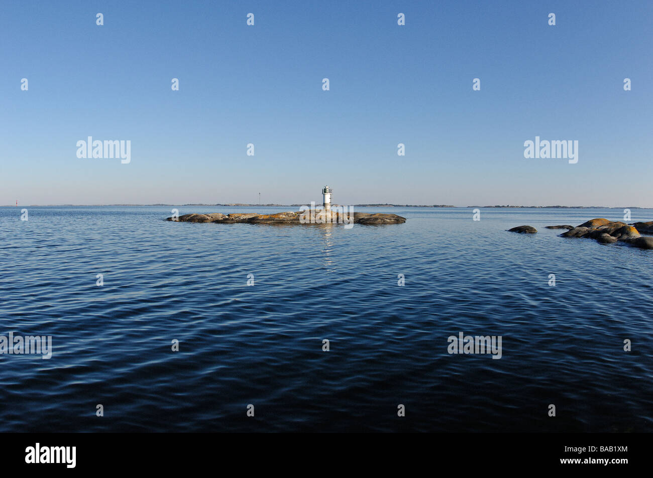 A lighthouse, Stockholm archipelago, Sweden. - Stock Image