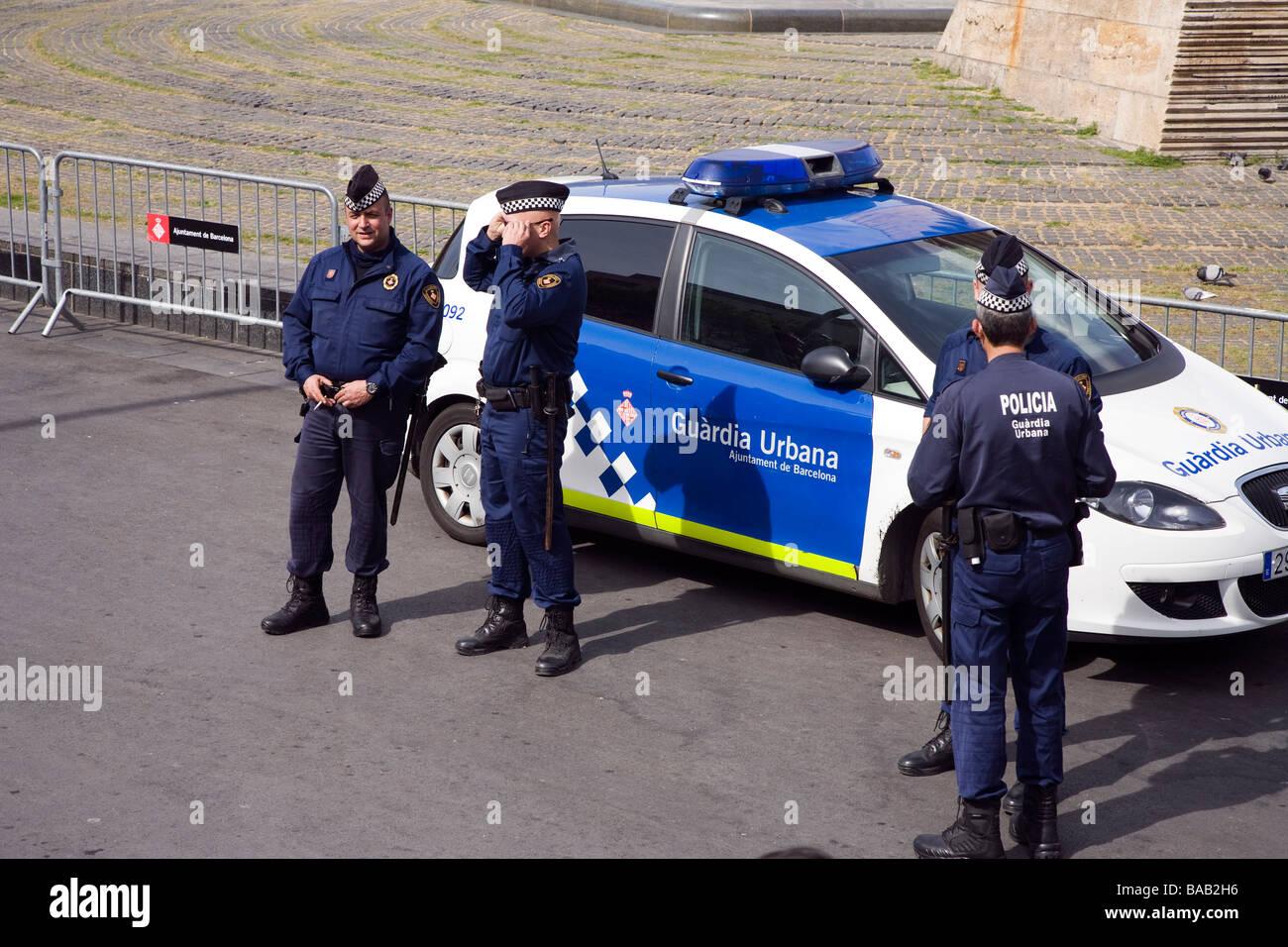 Urban Police Guardia Urbana Barcelona Catalunya Spain - Stock Image