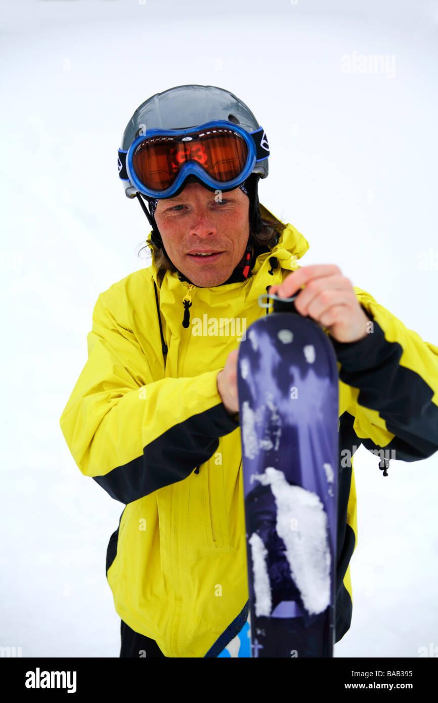 A skier Sweden - Stock Image