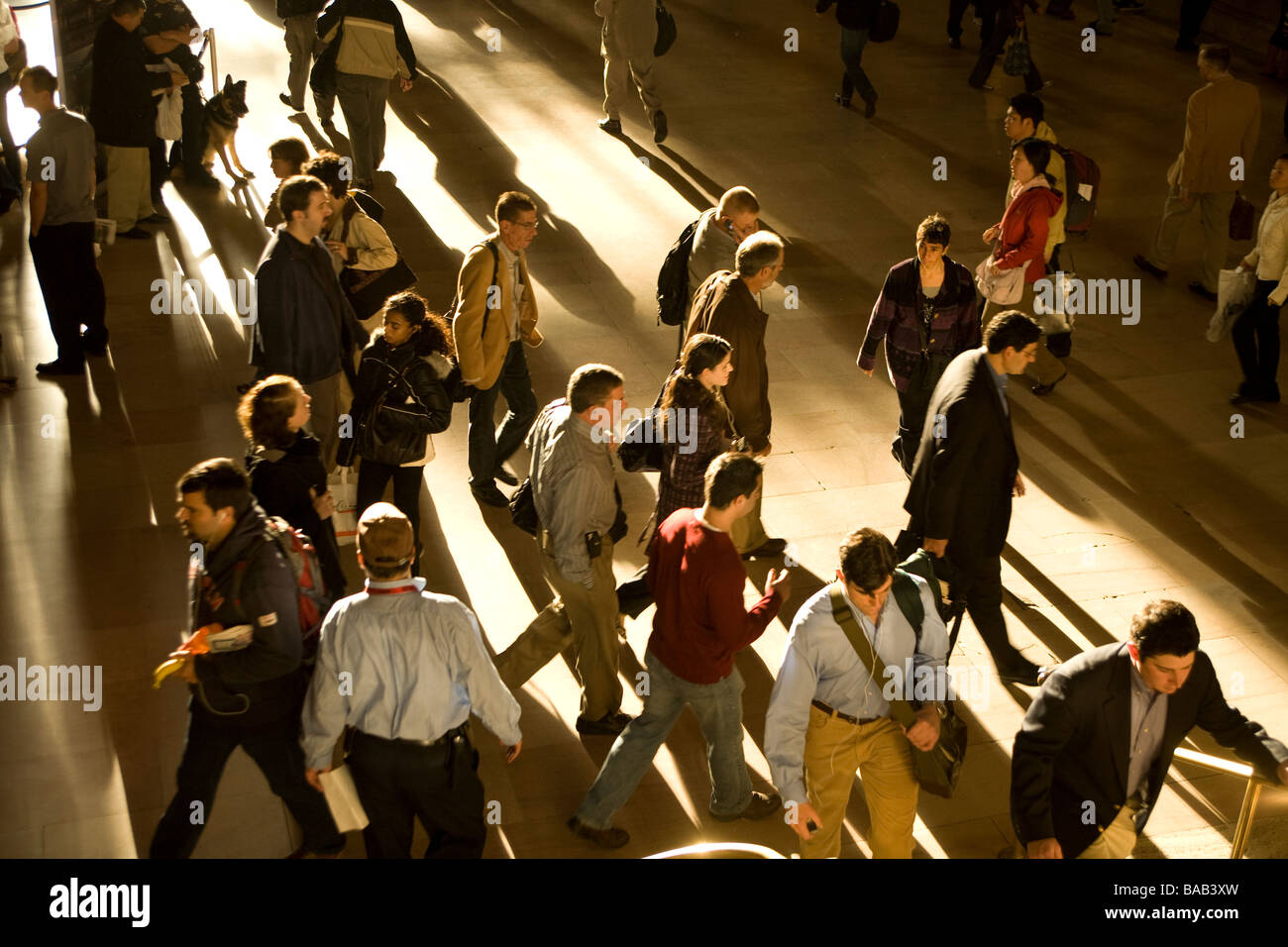 Morning commuter rush hour at Grand Central Station in New York City - Stock Image