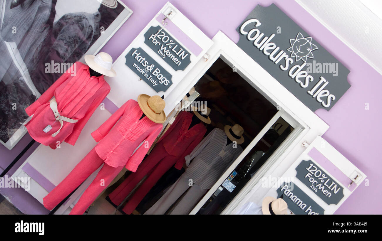 Colorful Clothing Display Couleurs Des Isles Boutique Gustavia St Barts