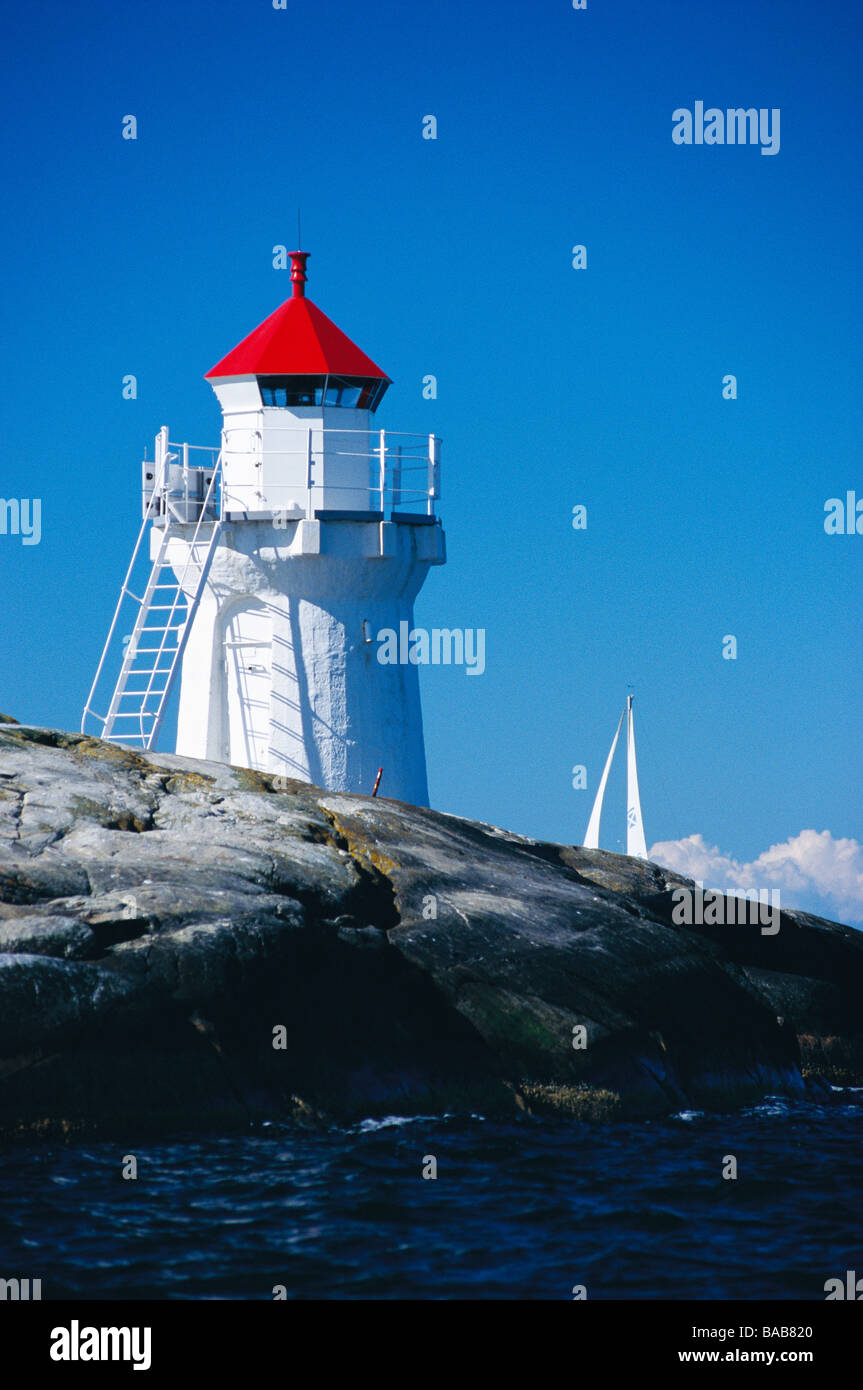 A lighthouse Sweden. - Stock Image