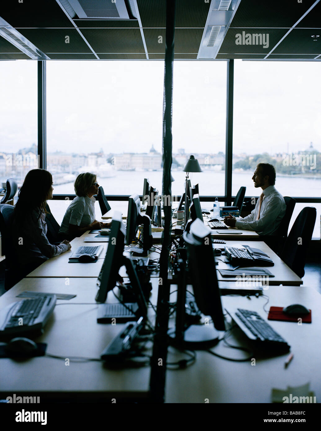 People in an office Sweden. - Stock Image