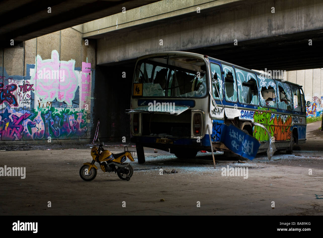 Ex- traveller site.  This was what they left behind. London. UK. - Stock Image