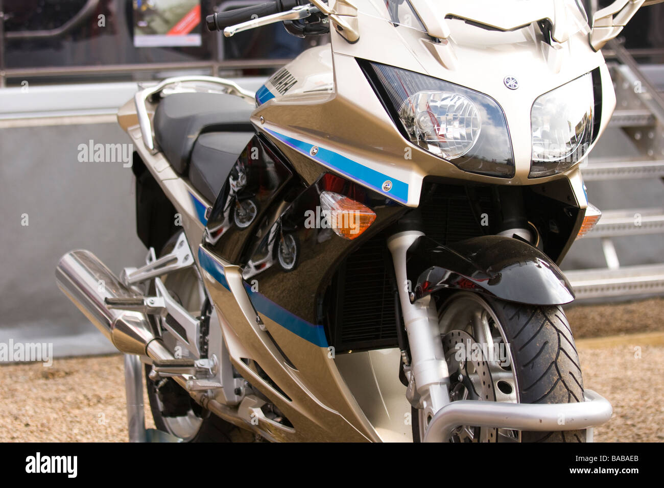 Yamaha bike front view - Stock Image