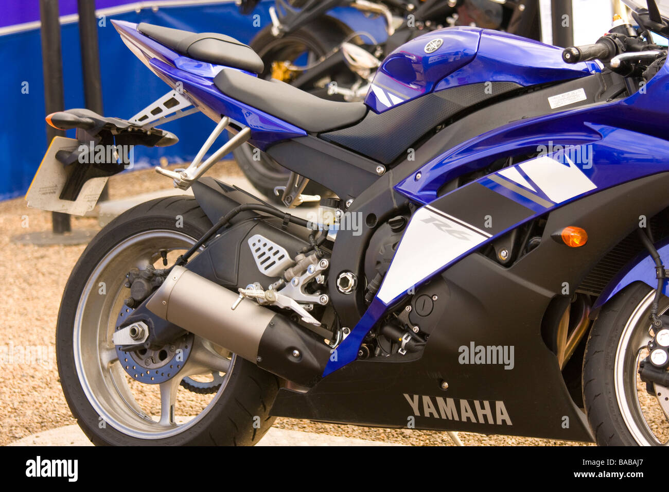 Yamaha Bike side view - Stock Image