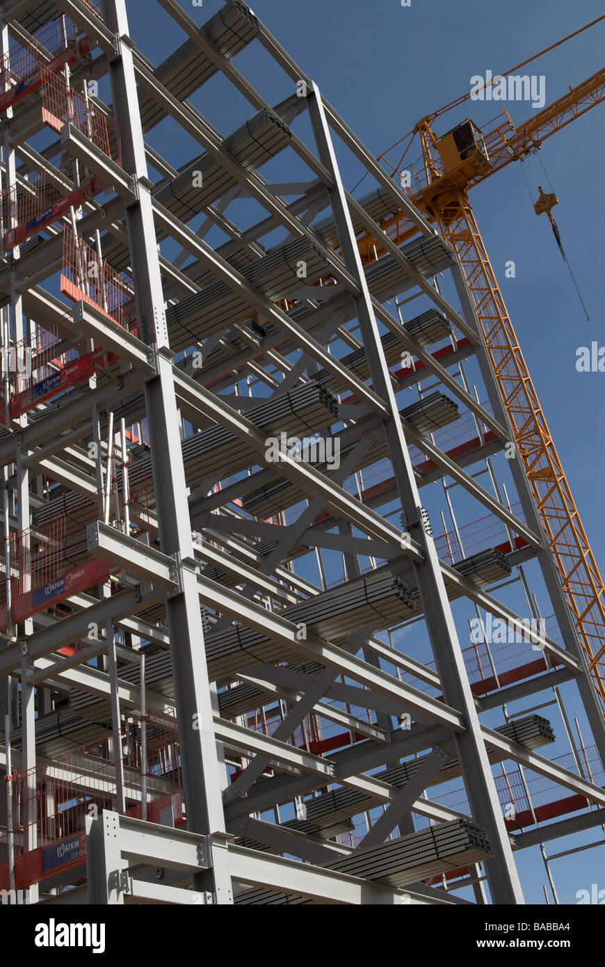 44837077d12b Steel frame of a new high-rise building part of the new university campus