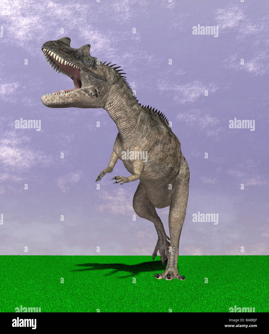 dinosaur Ceratosaurus Stock Photo
