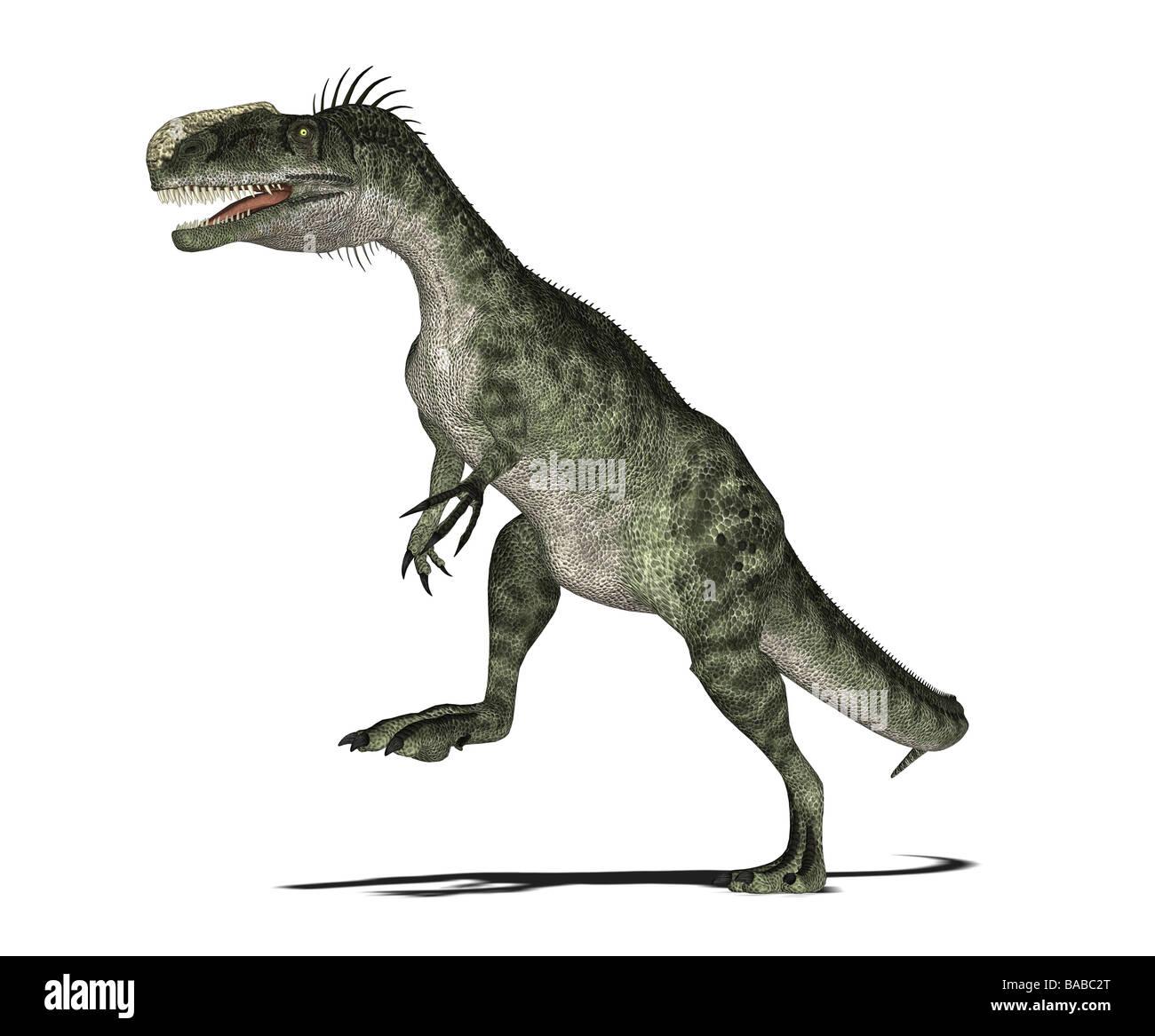 dinosaur Monolophosaurus Stock Photo