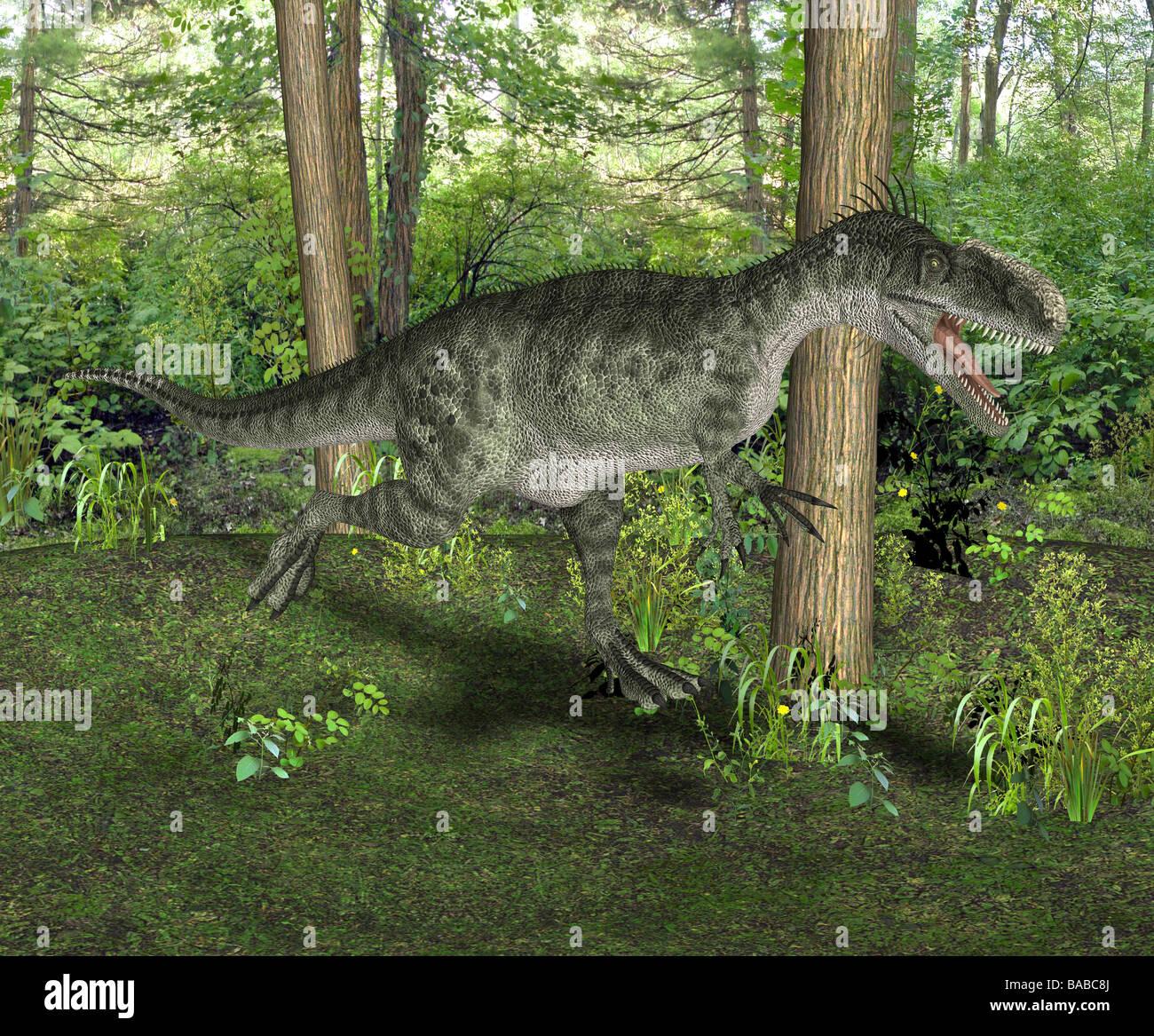 dinosaur MonolophosaurusStock Photo