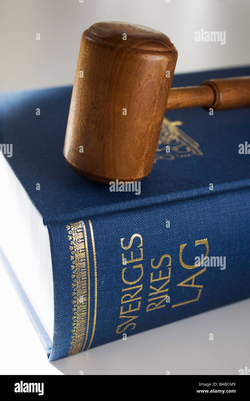 The Swedish statue book close-up - Stock Image