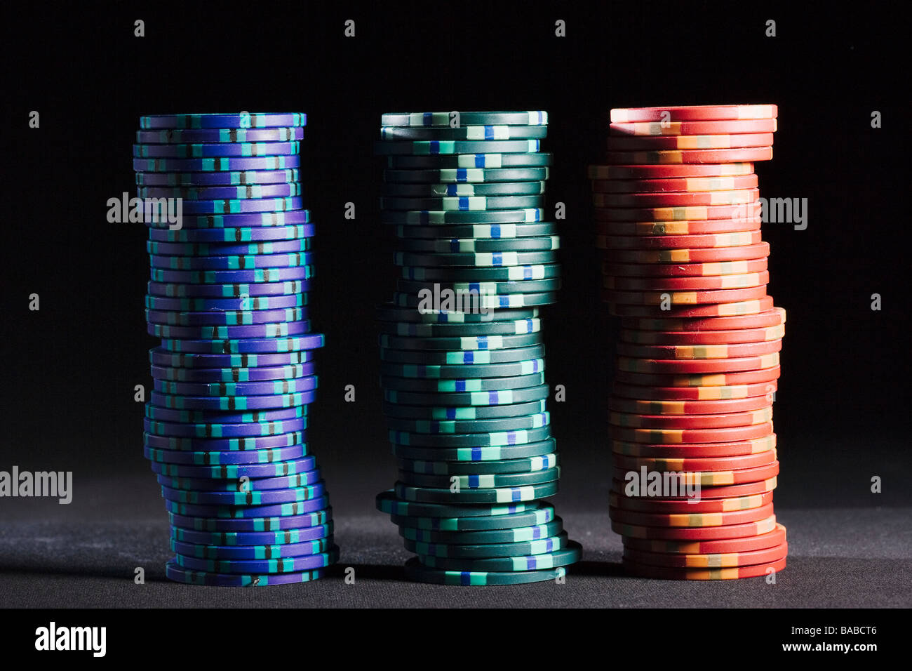 Counters on a casino close-up - Stock Image