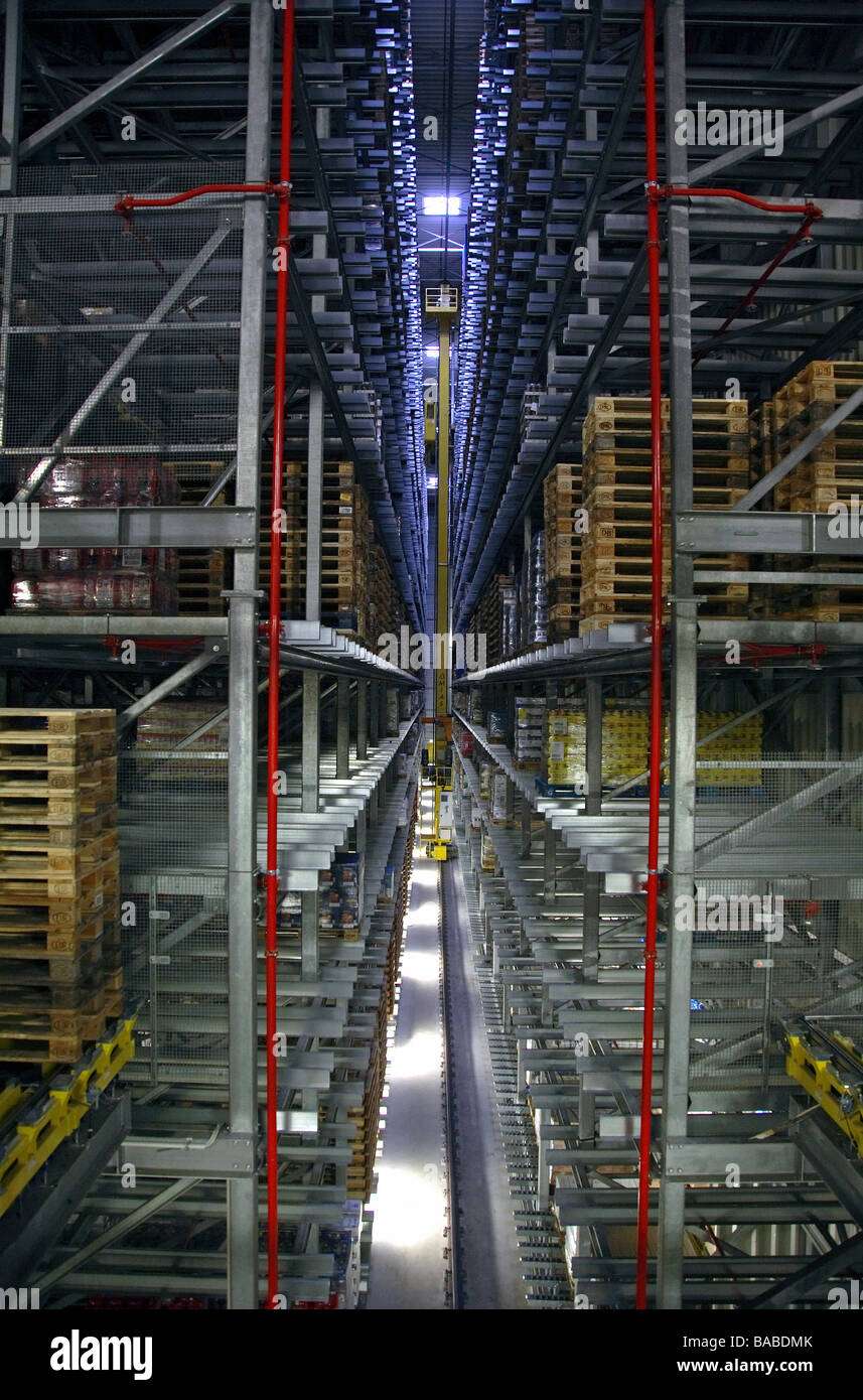 Edeka Logistic centre in Hamm, Germany - Stock Image