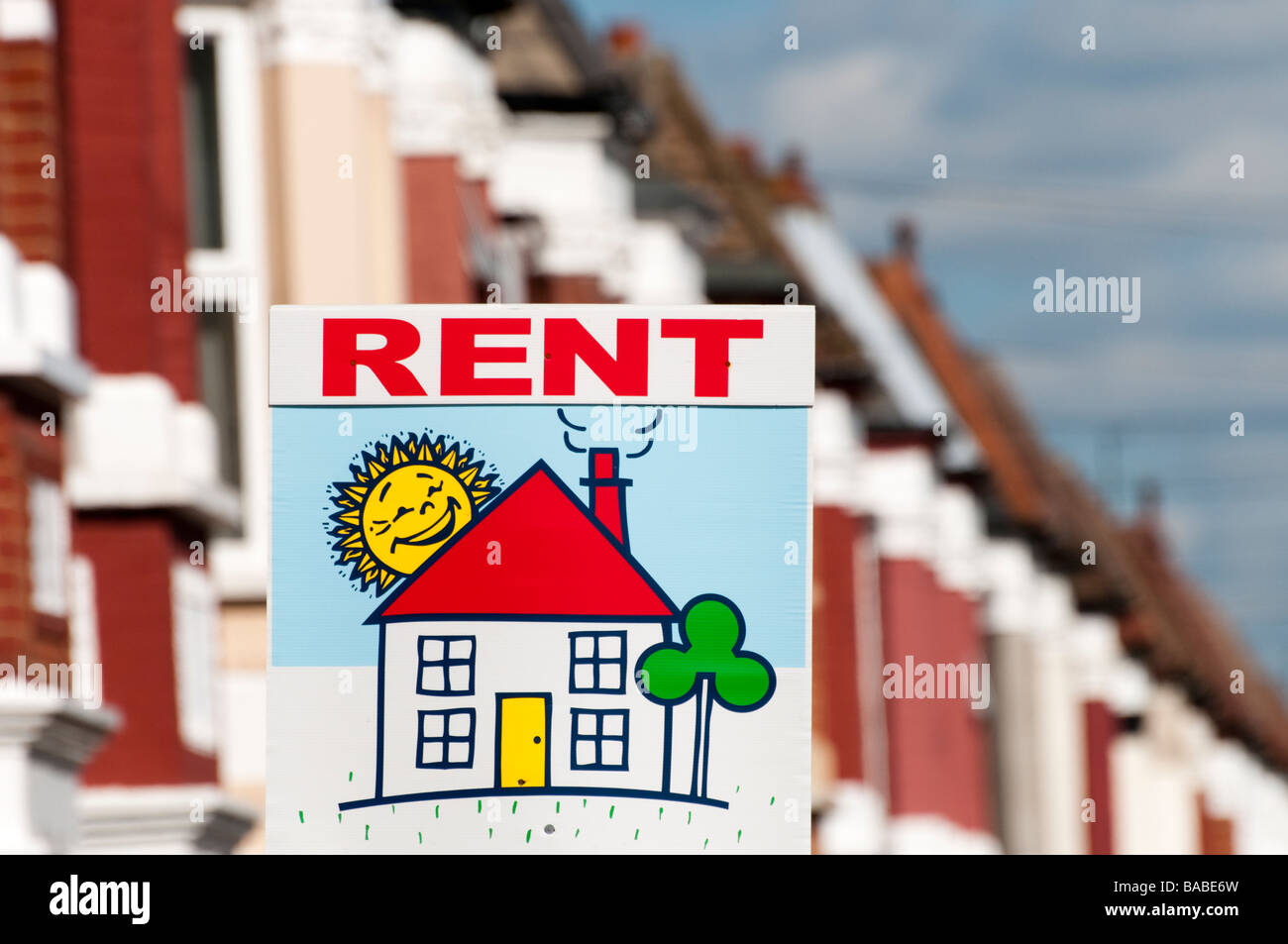 House for rent London England UK - Stock Image