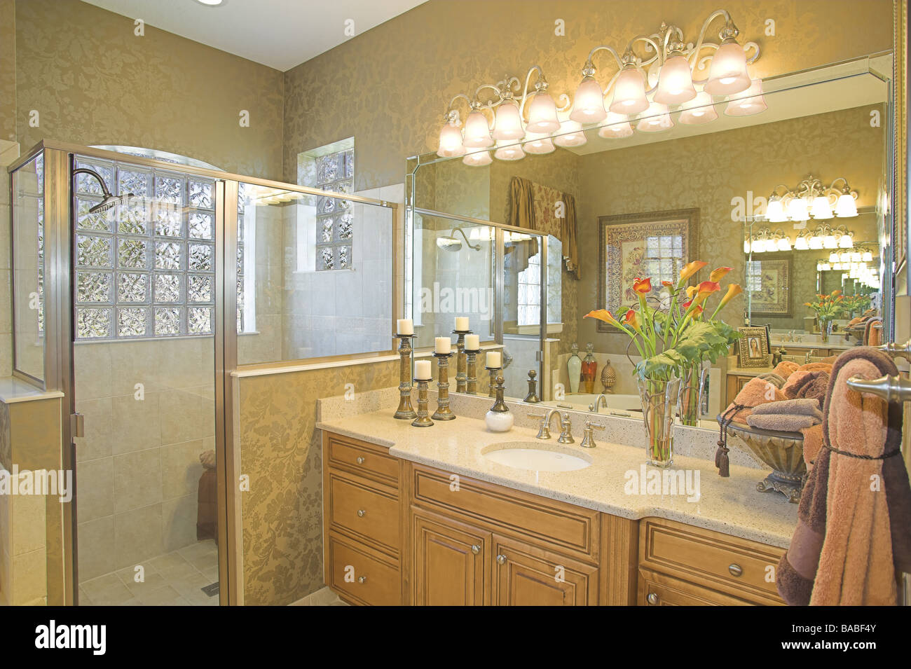 Modern home interiors. - Stock Image
