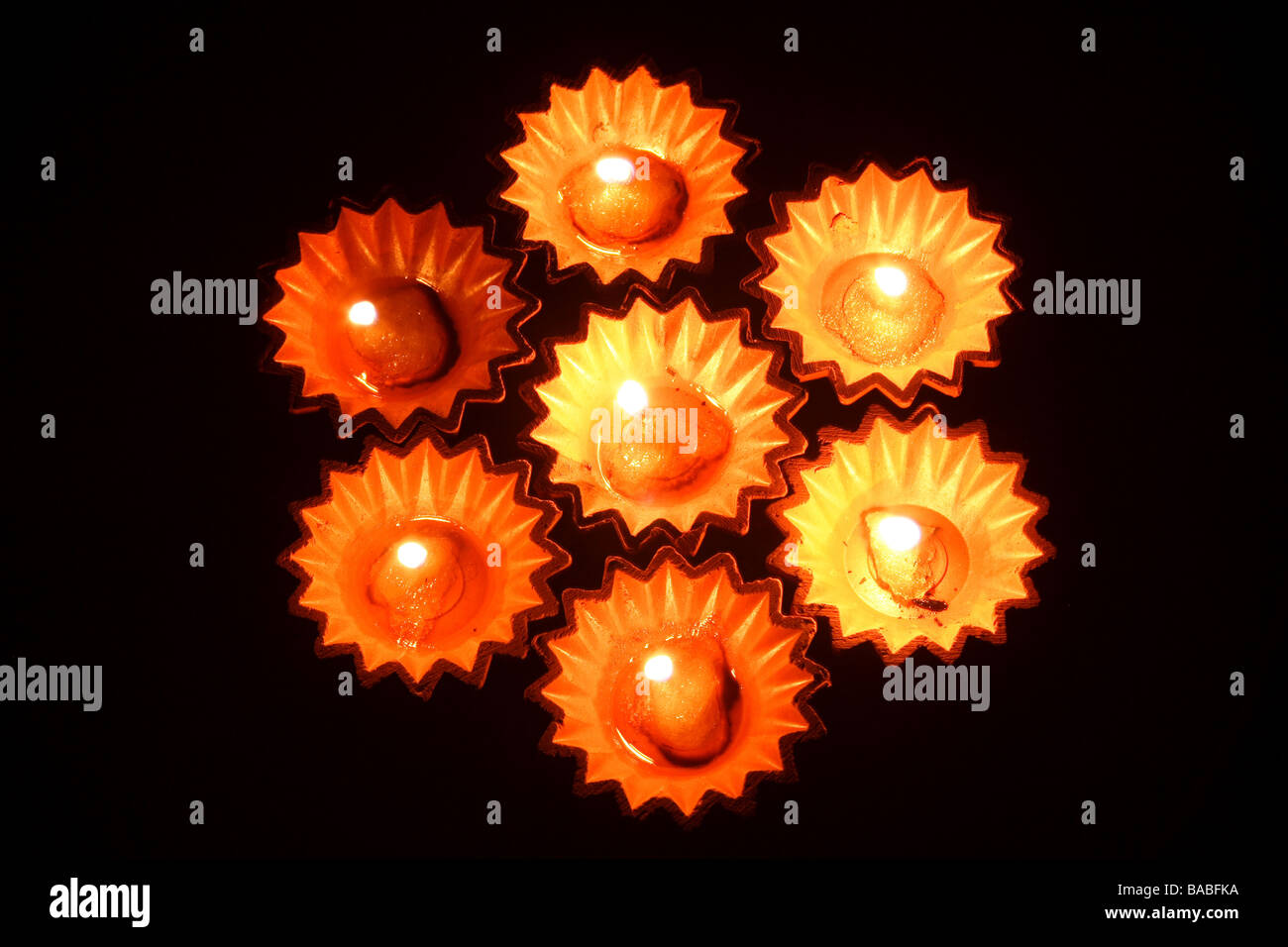 Oil lamps - Stock Image