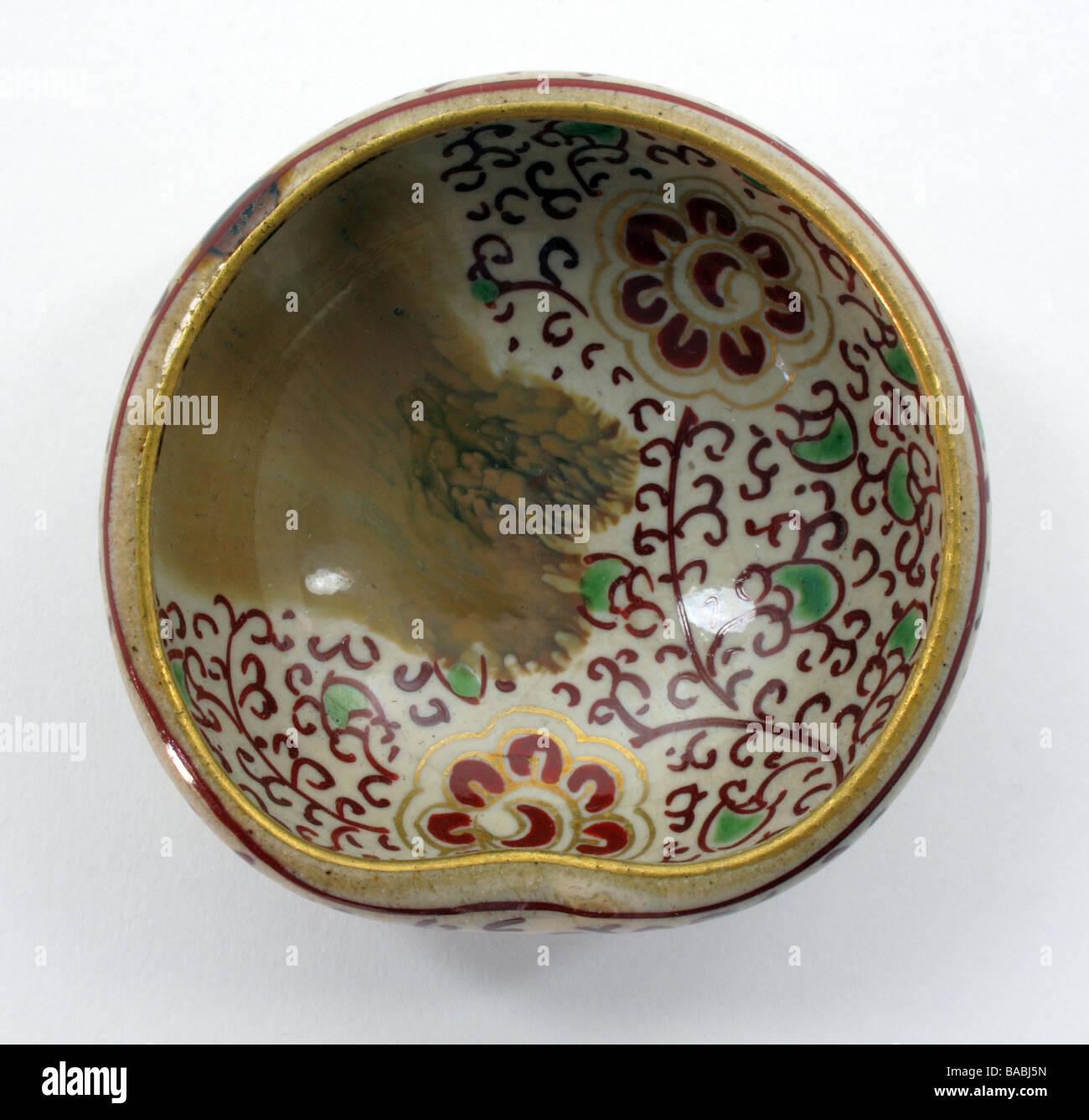 Antique Japanese porcelain pottery sake cup Stock Photo: 23612673