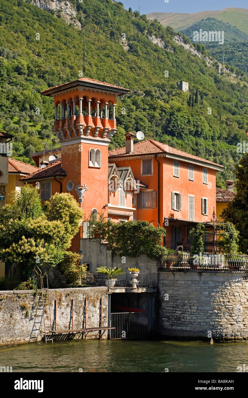 Villa at Sala Comacina, Lake Como, Italy - Stock Image