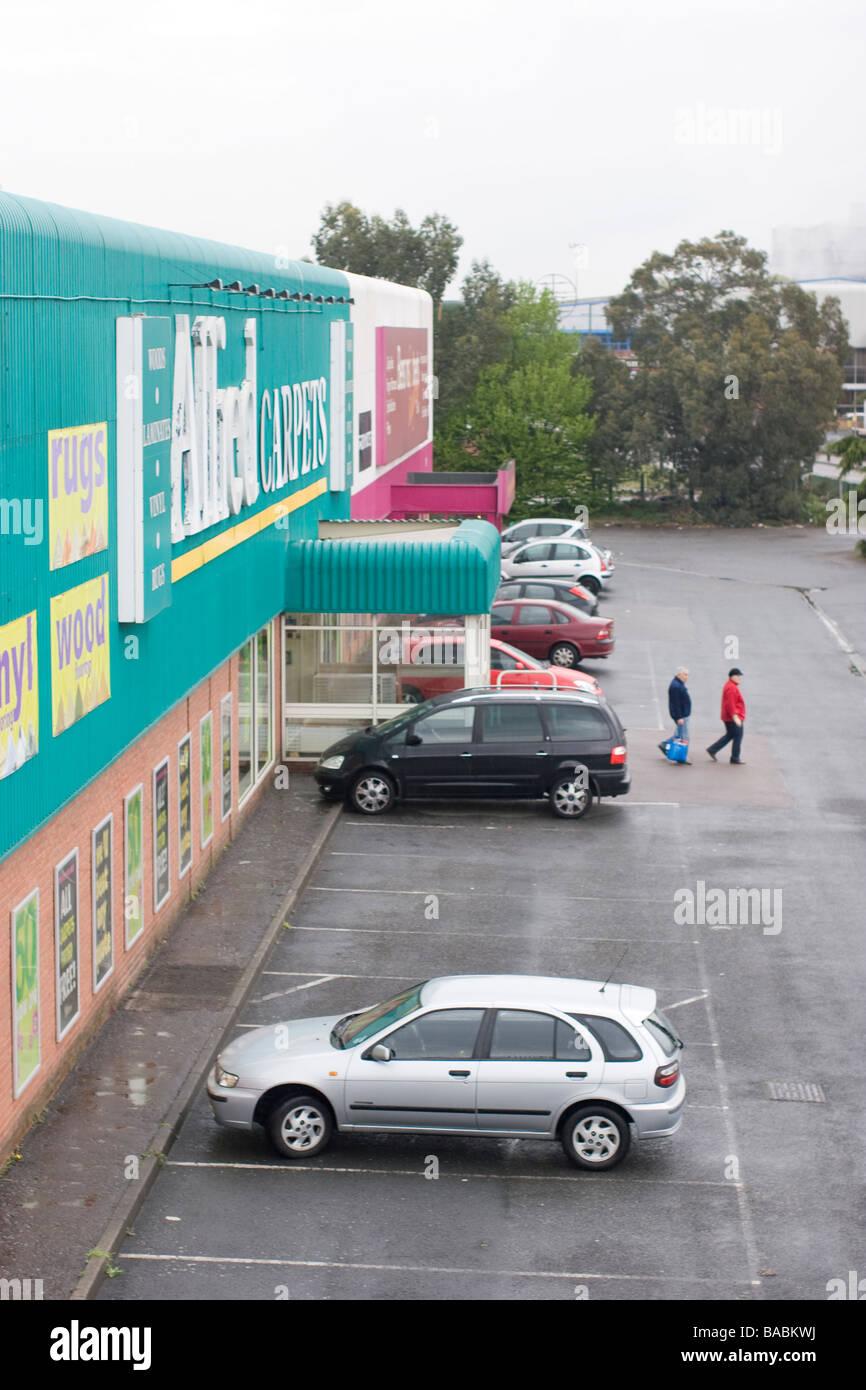 allied carpets branch Edmonton London - Stock Image