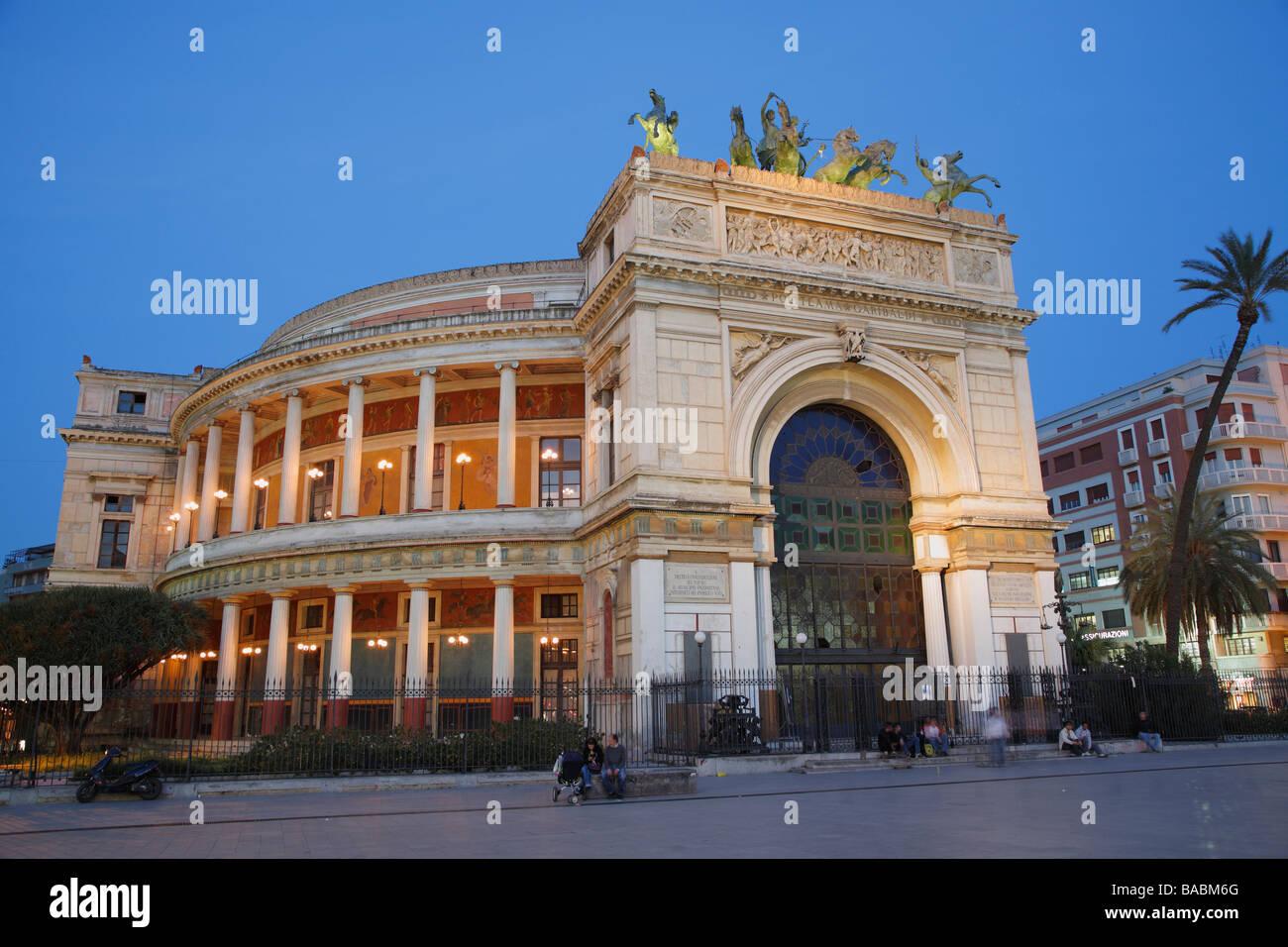 Teatro Politeama Garibaldi, Politeama Theater, Palermo, Sicily, Italy Stock Photo