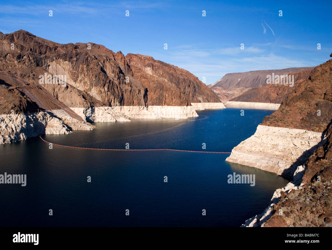 Lake Mead reservoir at the hoover dam, Nevada, USA Stock Photo