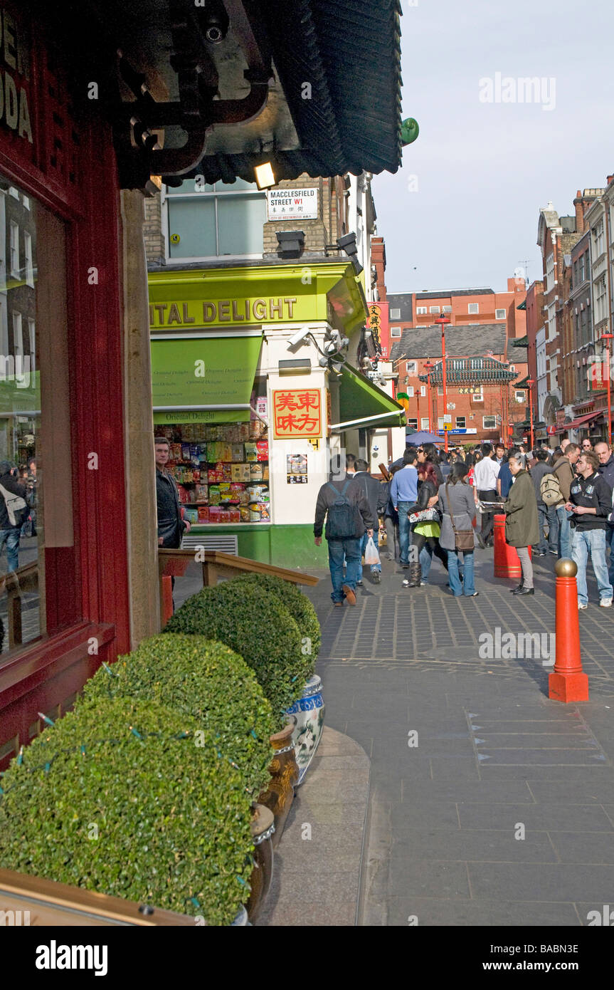 Street Scene in London's China Town District, China Town, London, England, UK Stock Photo